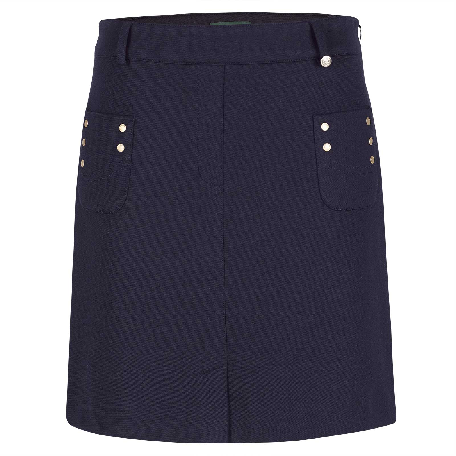 Ladies' medium length golf skort
