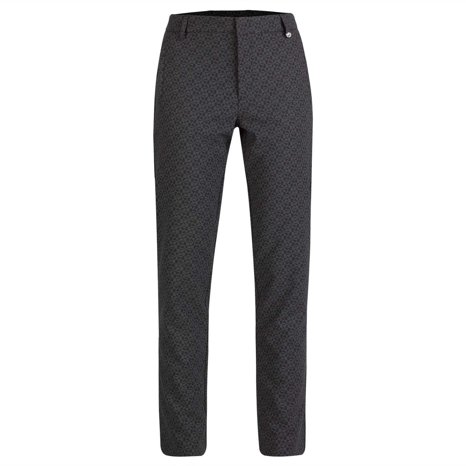 Ladies' 7/8 printed golf trousers in 4-way stretch