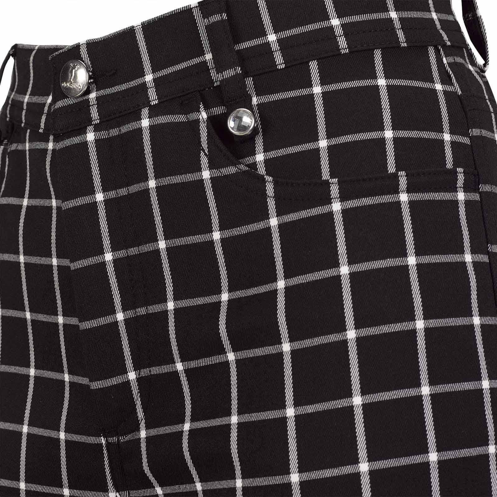 Wasserabweisende 7/8 Damen Karo-Golfhose mit Stretch Funktion