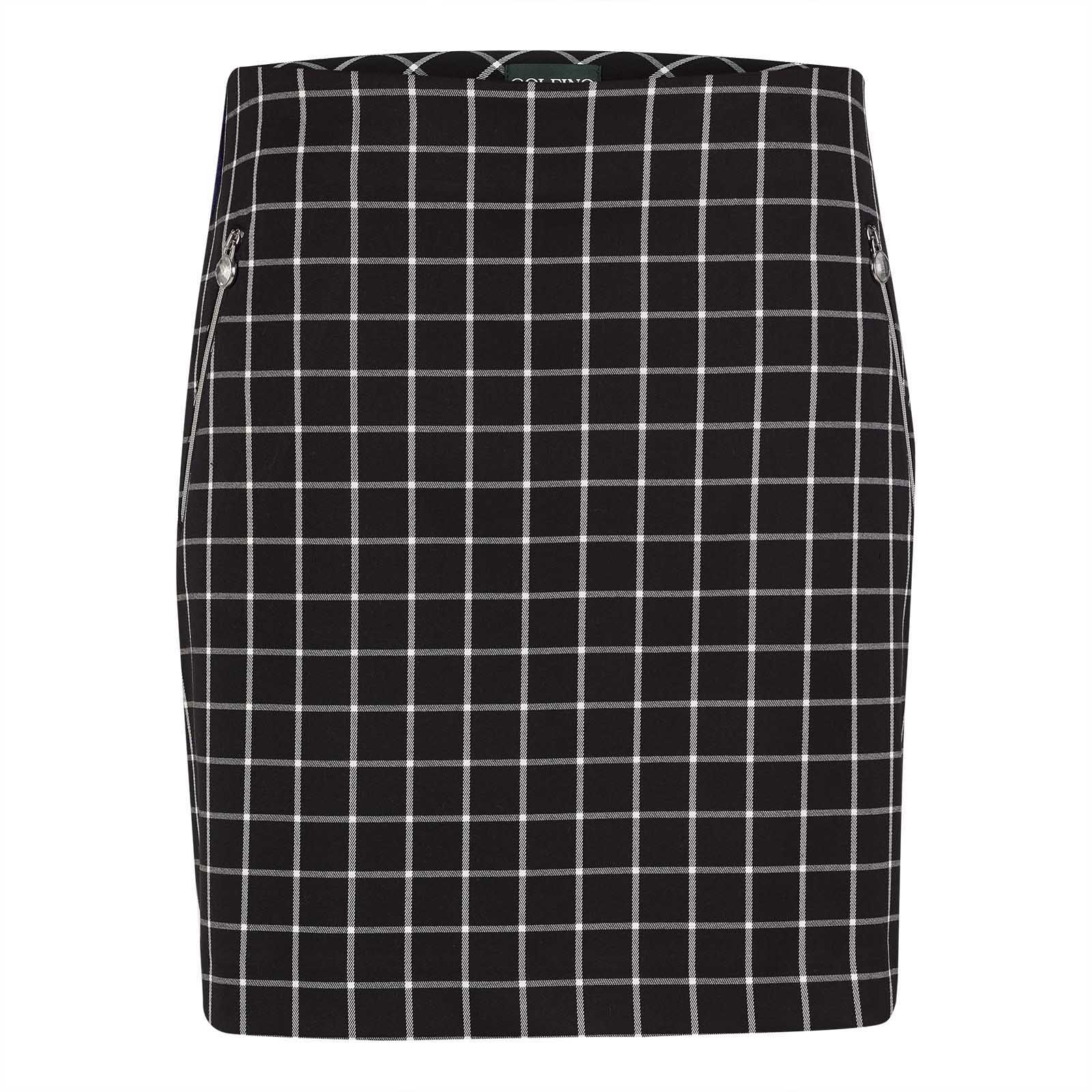 Ladies' medium checked golf skirt made from Quick Dry functional material