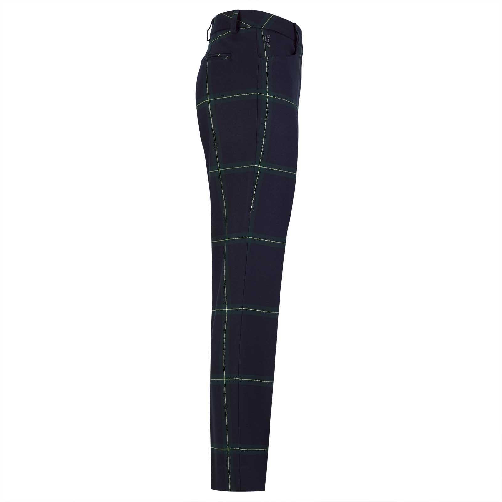 Damen 7/8 Stretch-Golfhose mit klassischem Karo und legerer Passform