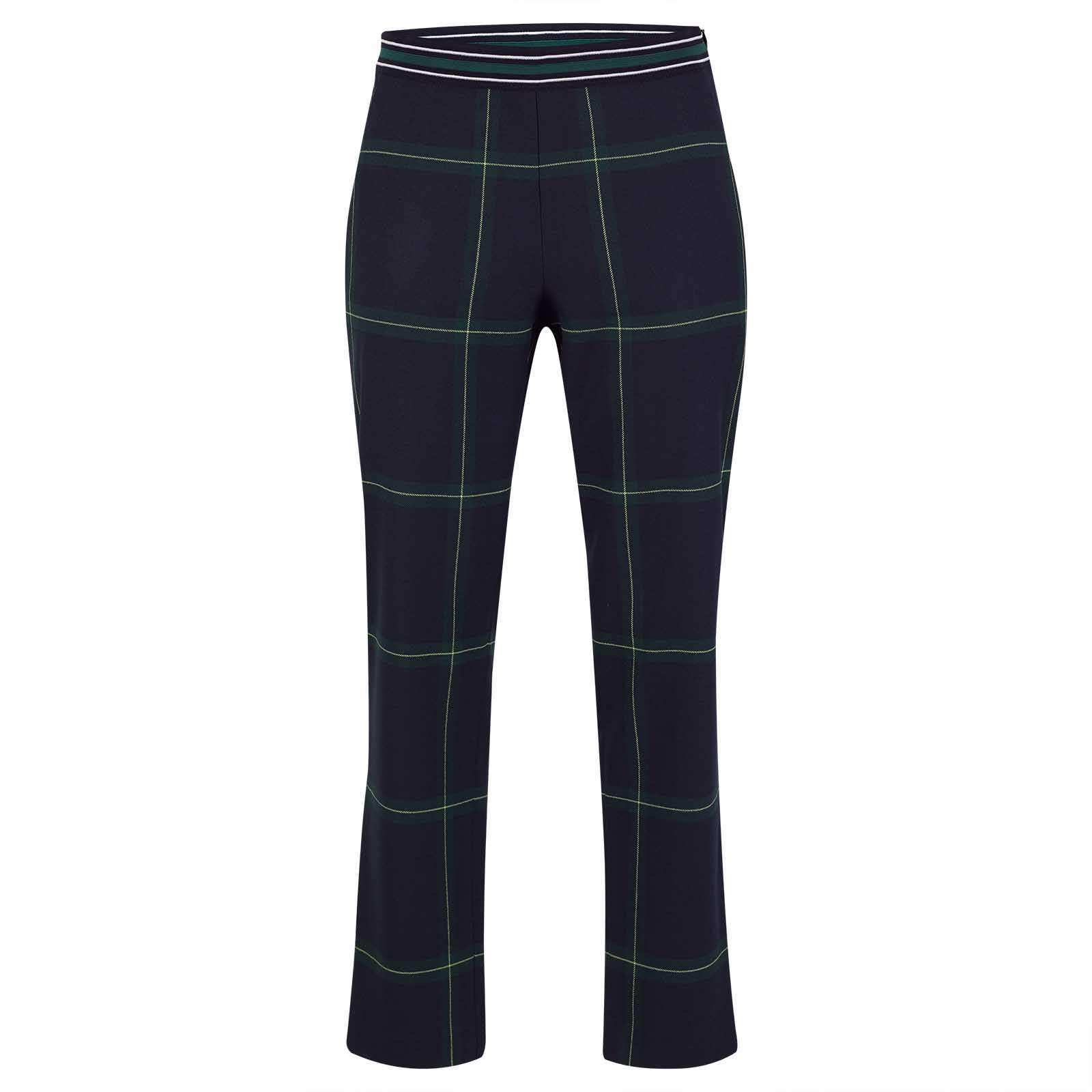 Ladies' long capri trousers with classic diamonds and comfortable fit