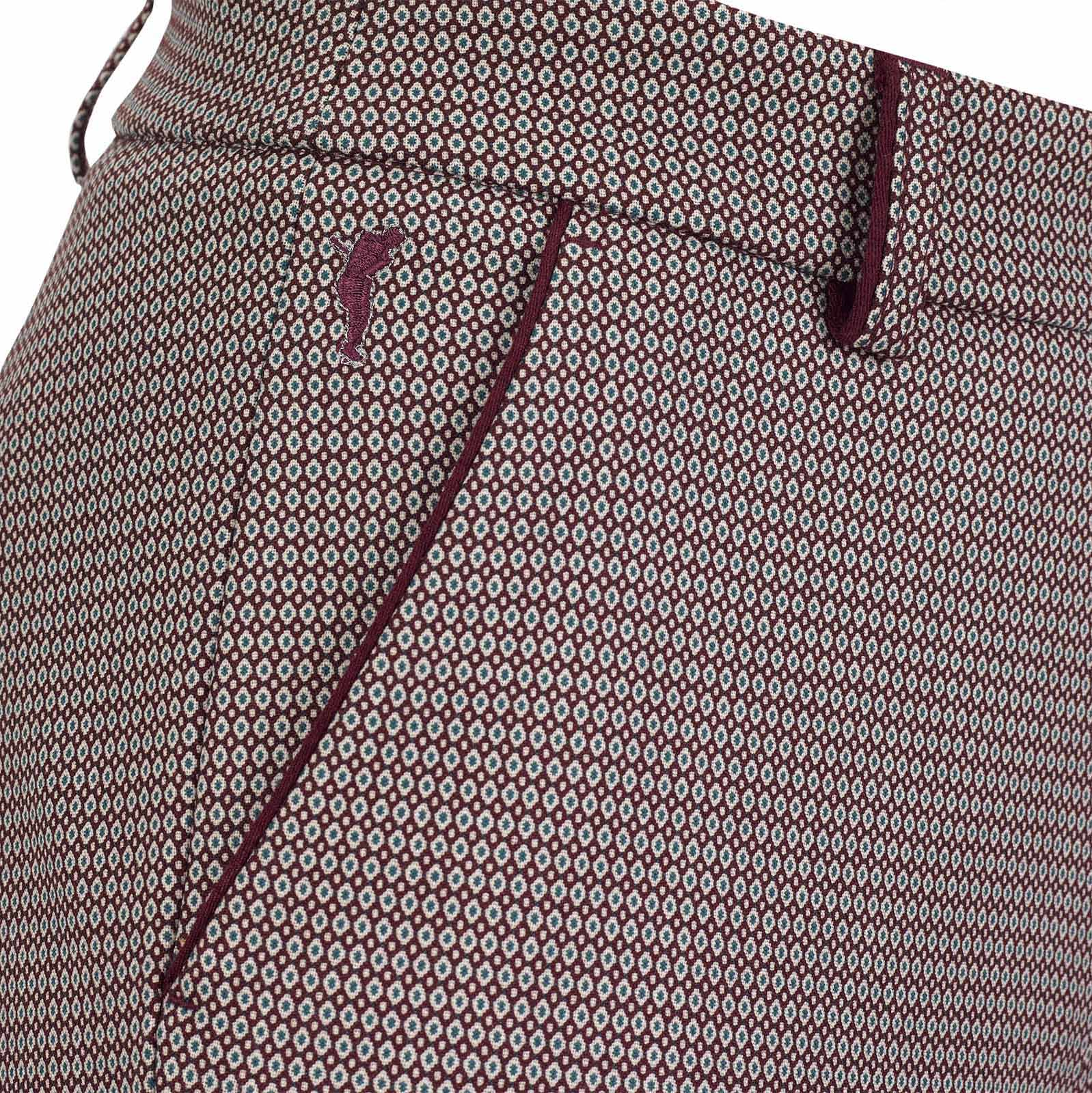 Elegante Damen Jacquard Stretchhose mit modischem Muster und softem Touch
