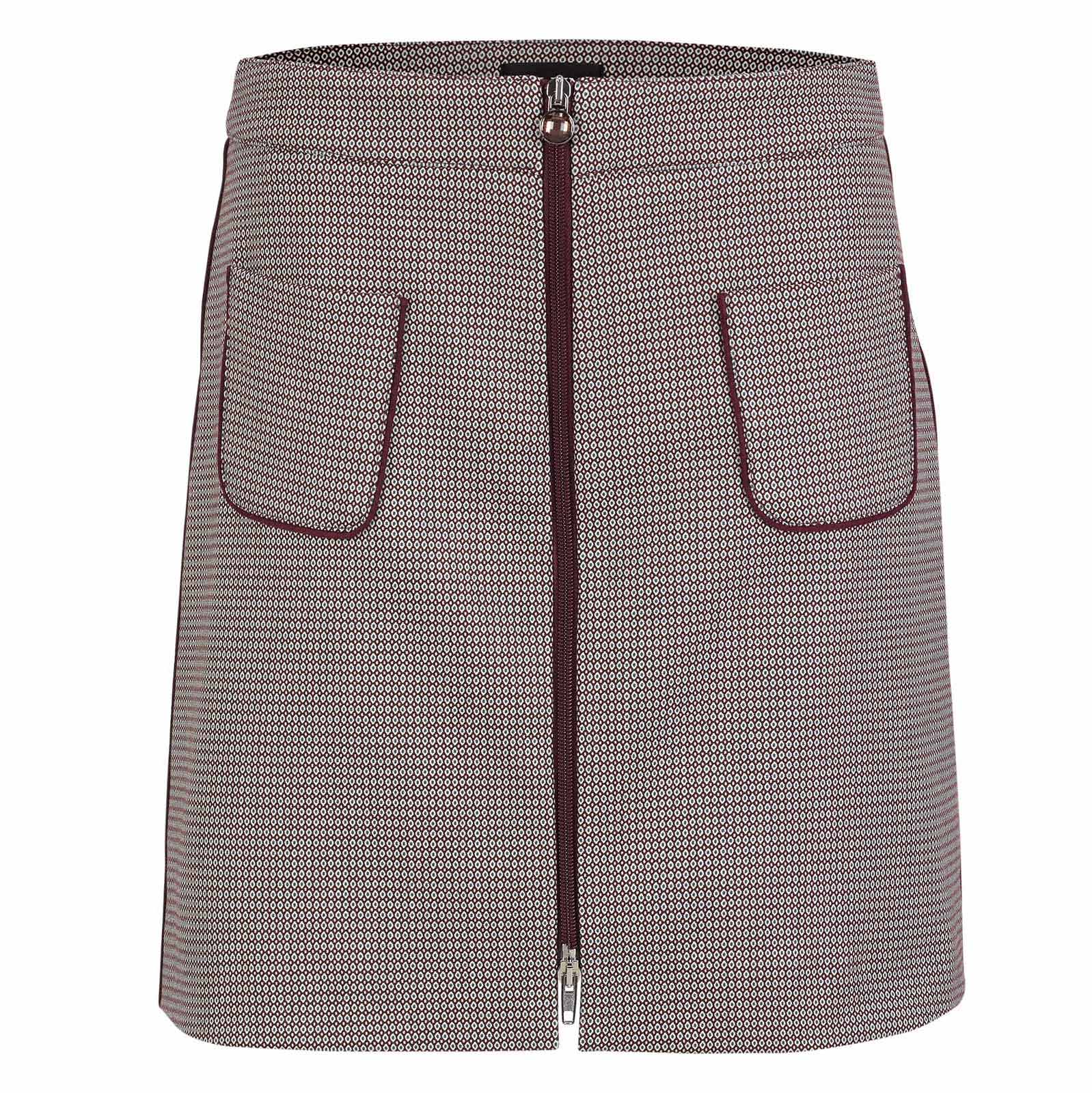Elegant jacquard ladies golf skirt with fashionable pattern in medium length