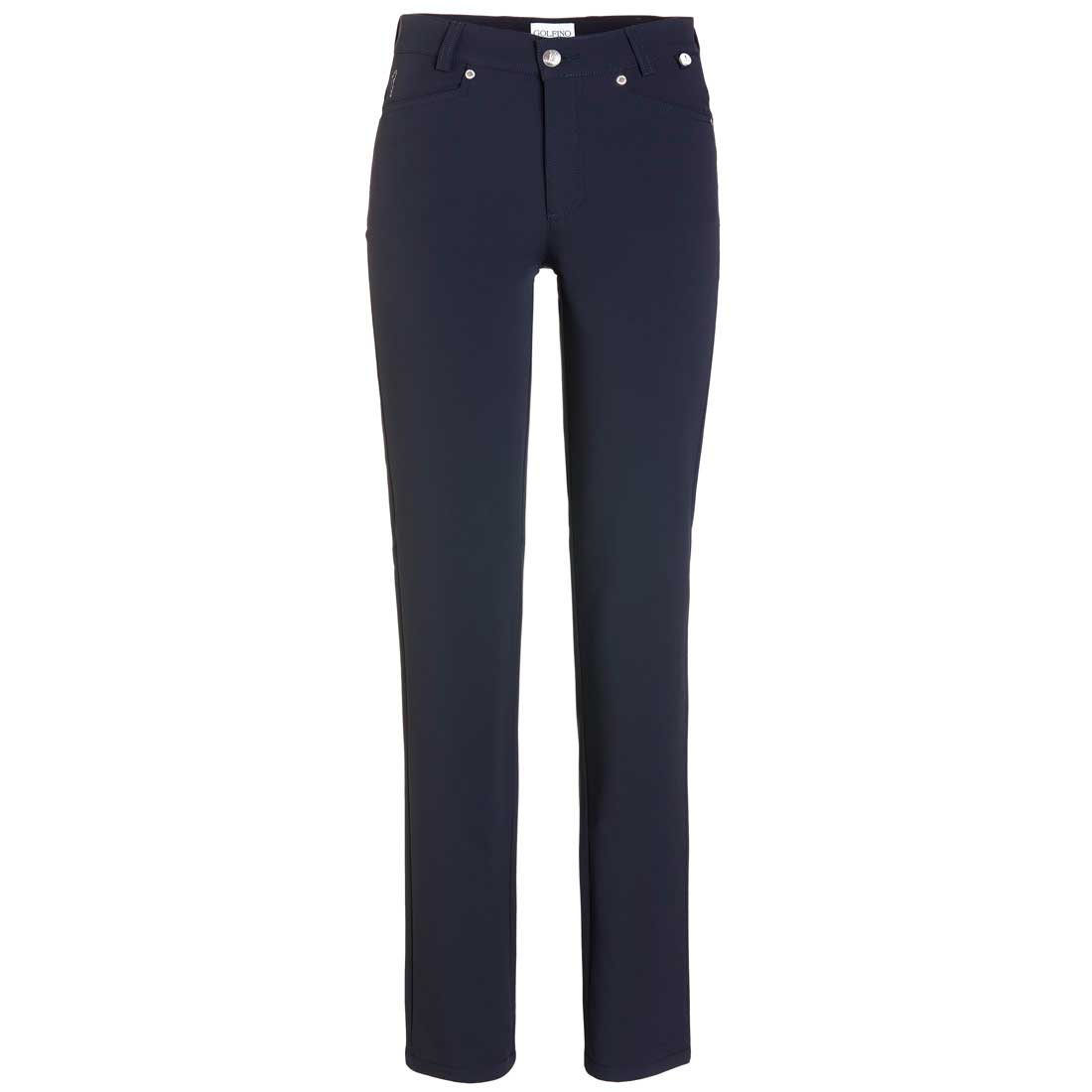 Comfortable ladies' golf trousers from Thermo Stretch in slim fit extra long