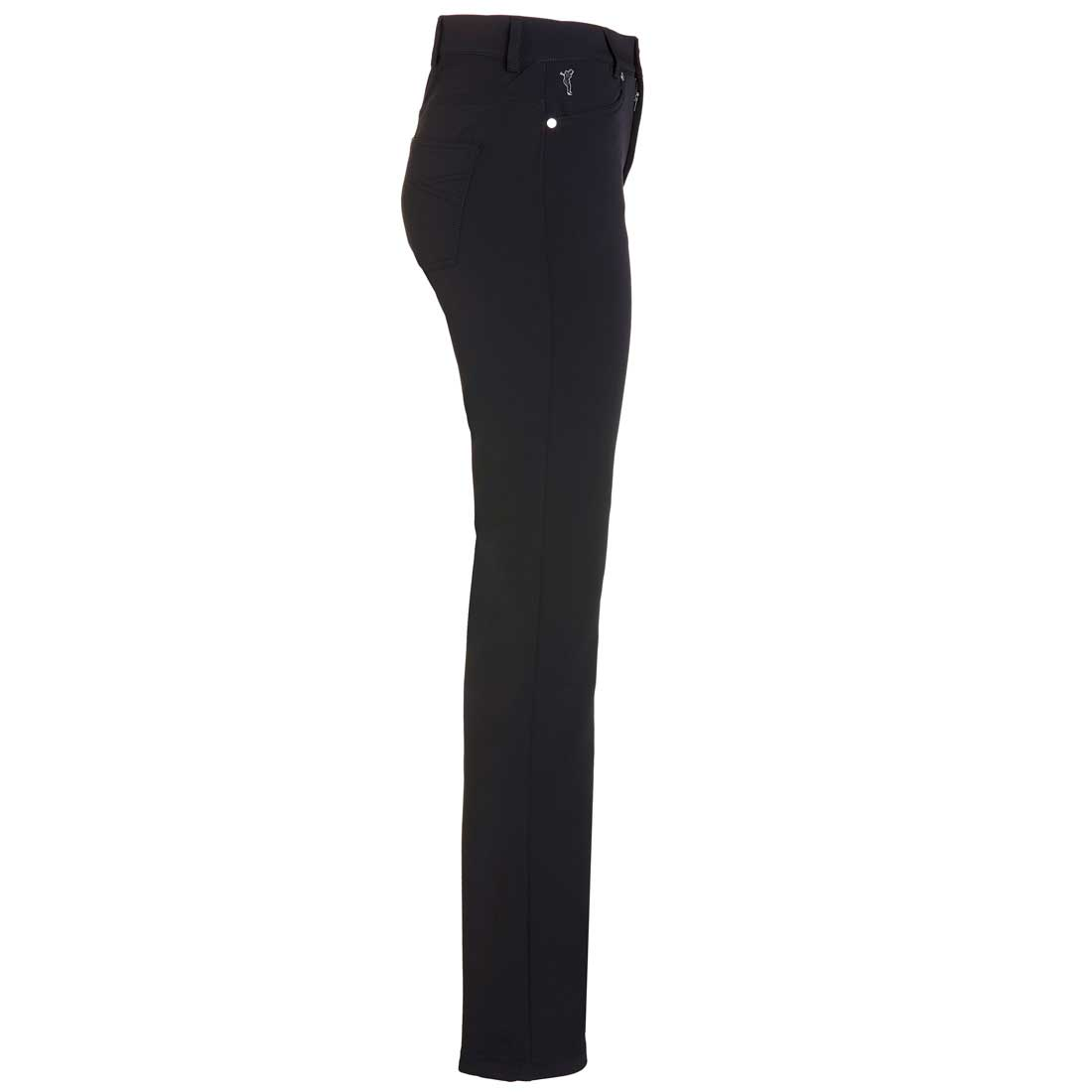 Komfortable Damen Golfhose aus Thermo Stretch in Slim Fit extra long