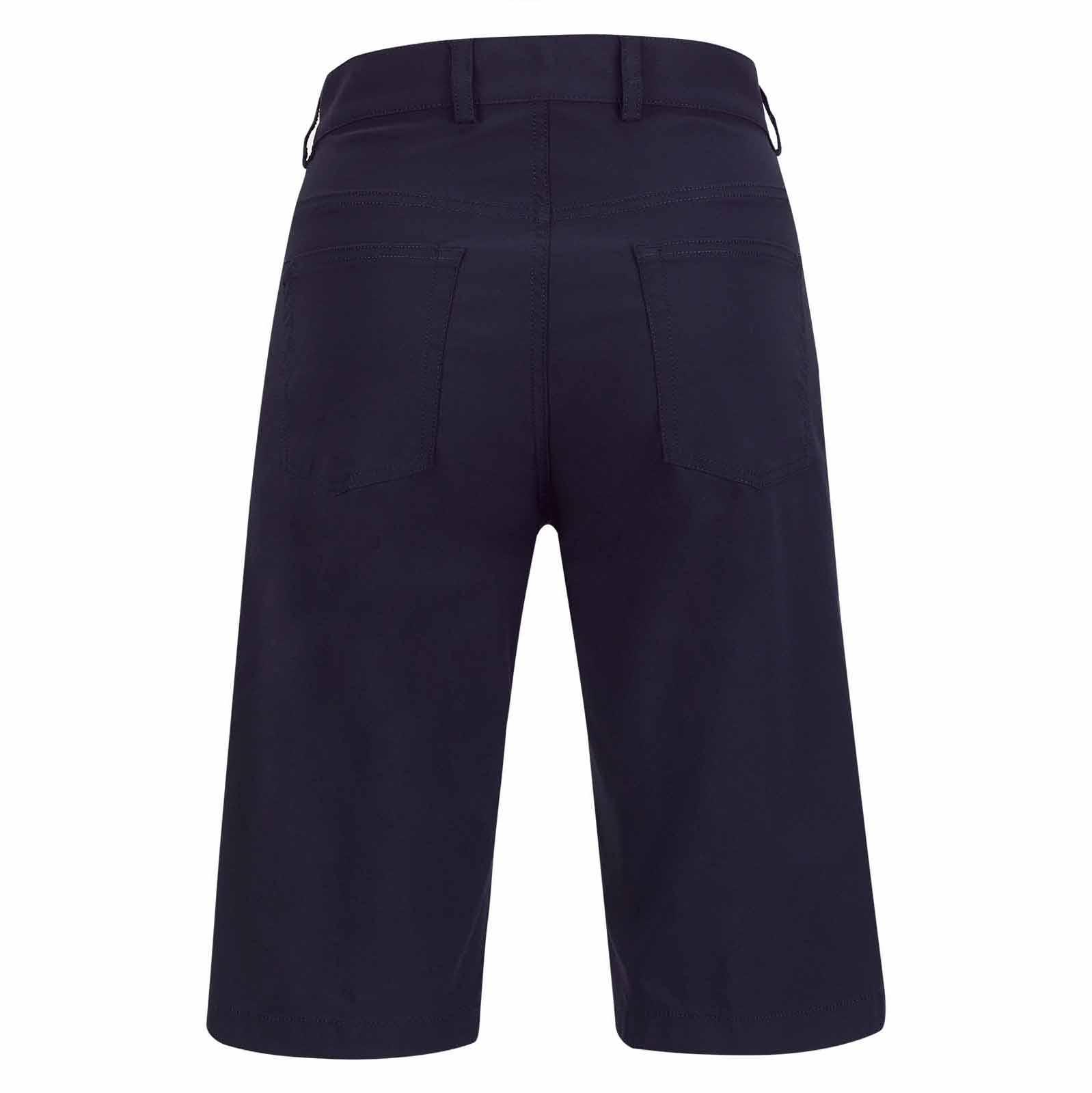 5-Pocket Damen Stretch-Golfbermuda mit UV-Schutz in Slim Fit