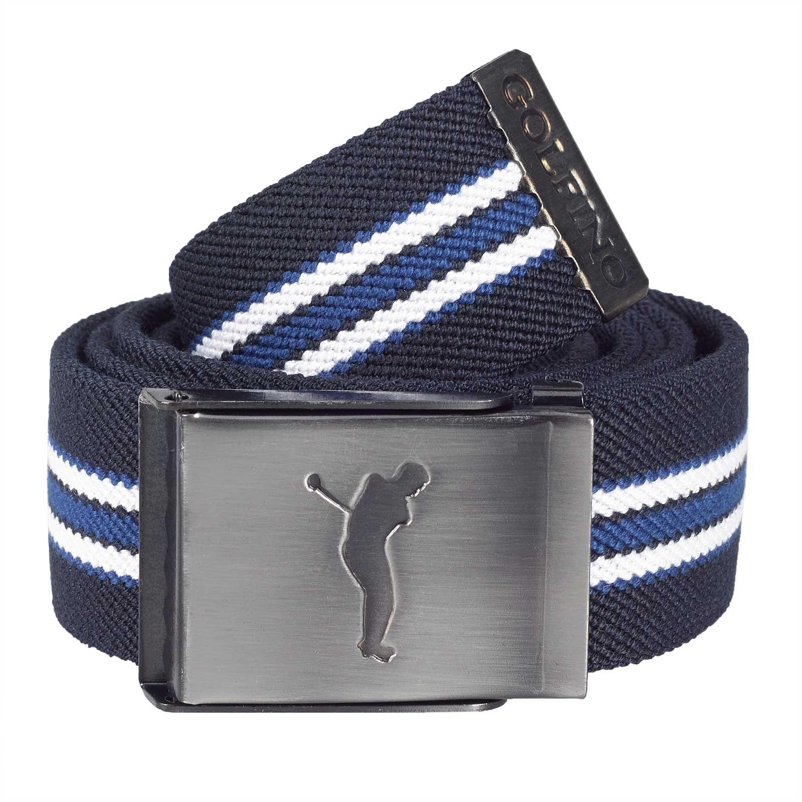Elastischer Herren Golf-Wendegürtel mit nickelfreier Klemm-Schnalle