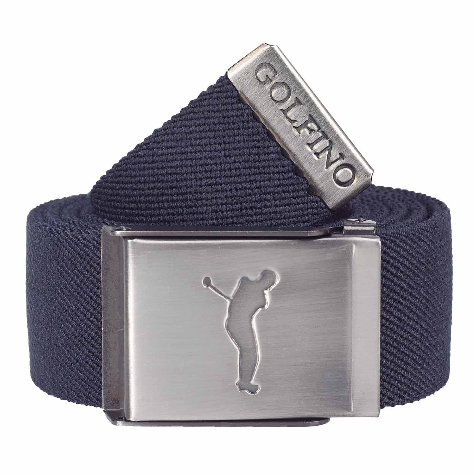 Herren Komfort Golf Stretchgürtel aus feinem Webmaterial mit Wendefunktion