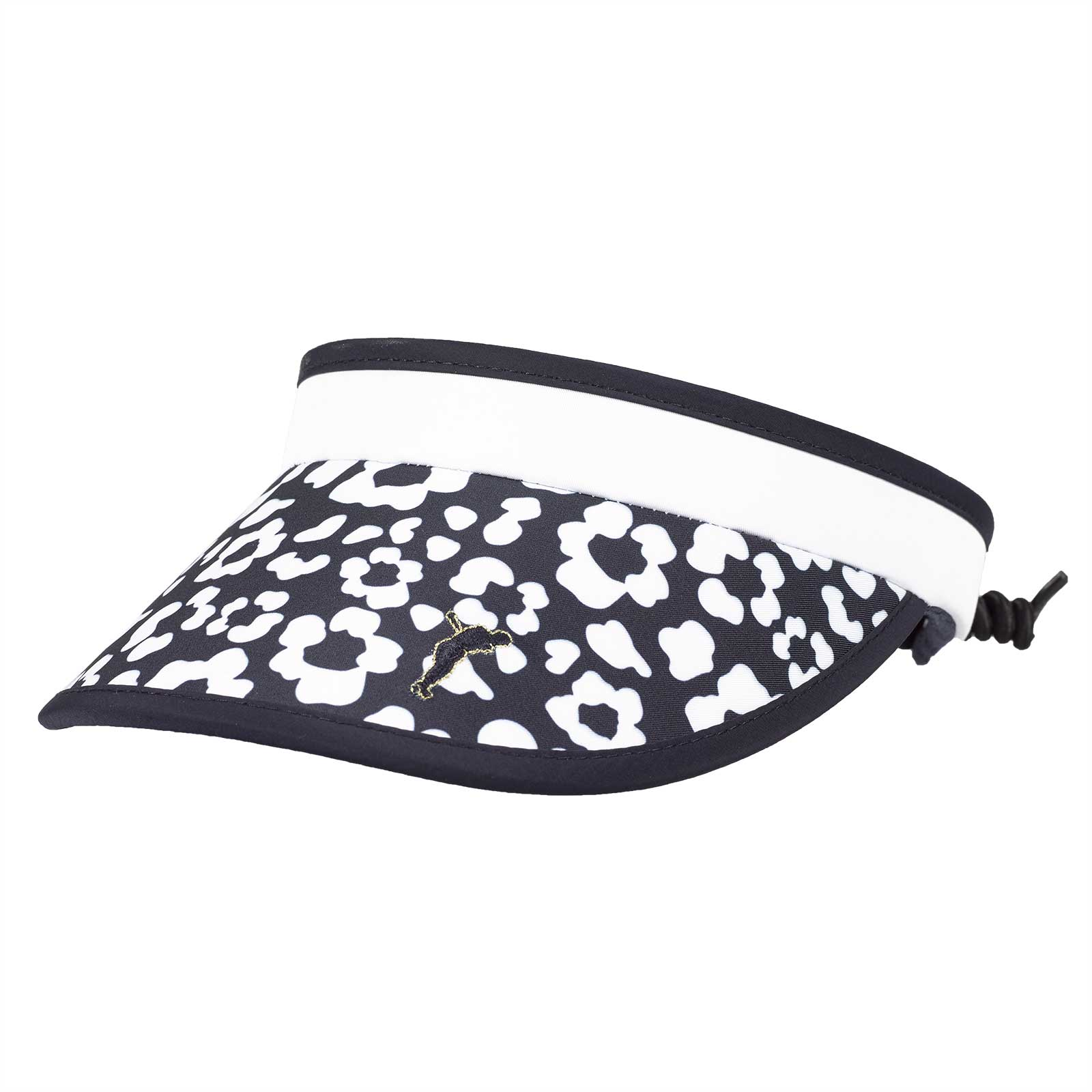 Ladies' cable visor with stylish floral design and sweatband