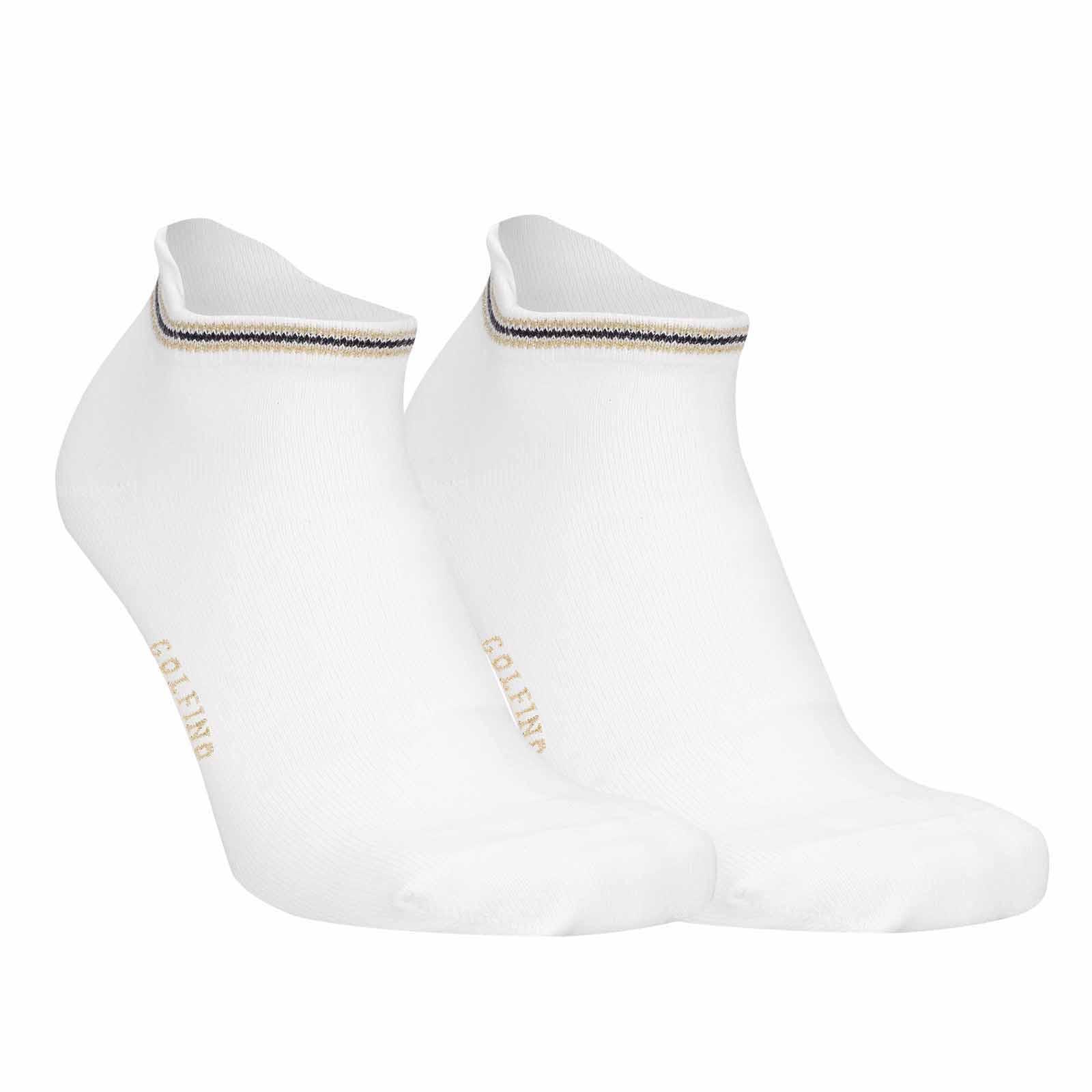 Calcetines de golf elásticos de mujer de una mezcla de algodón con elementos metálicos brillantes