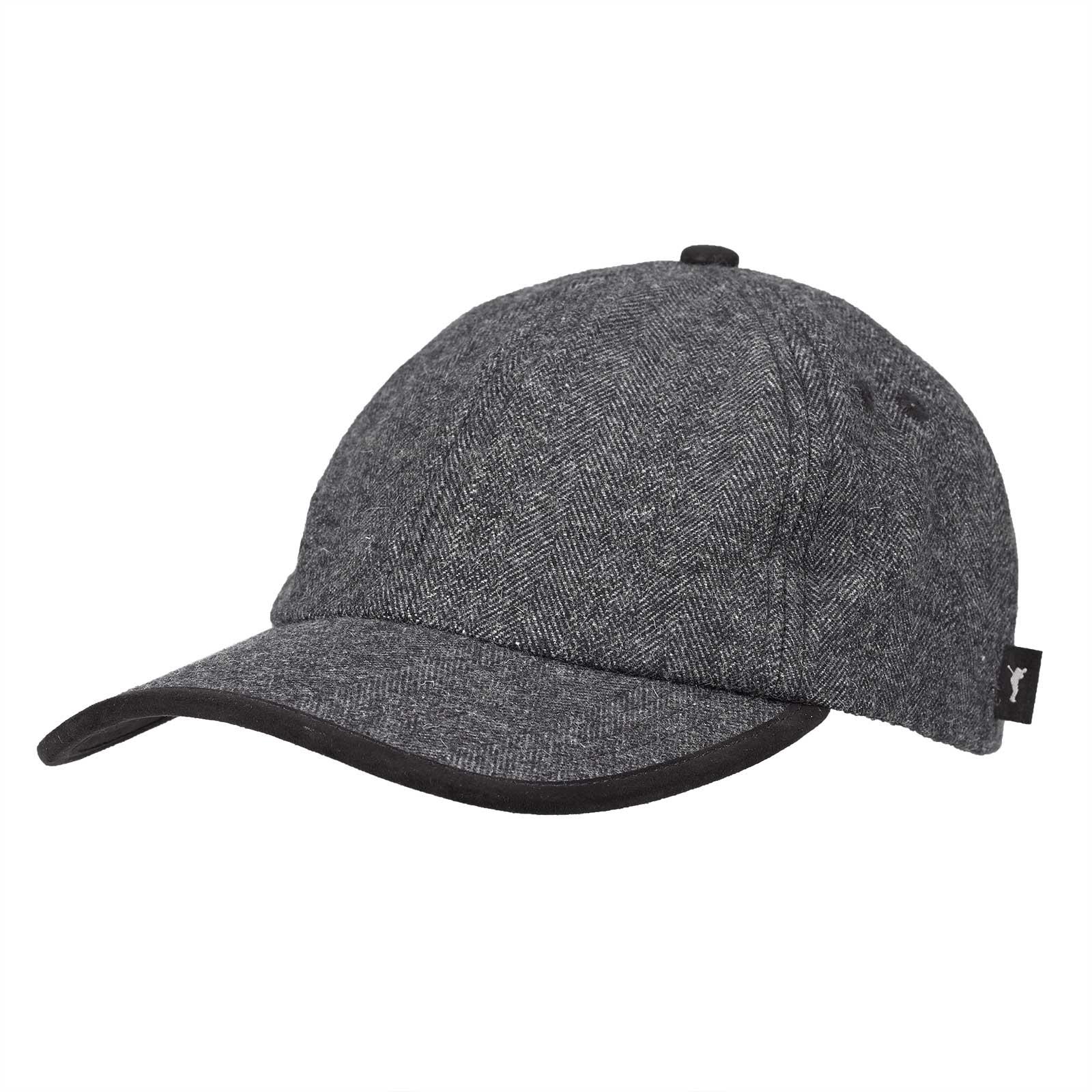 Premium Casual Herren Funktions-Golfcap mit Fischgrätmuster