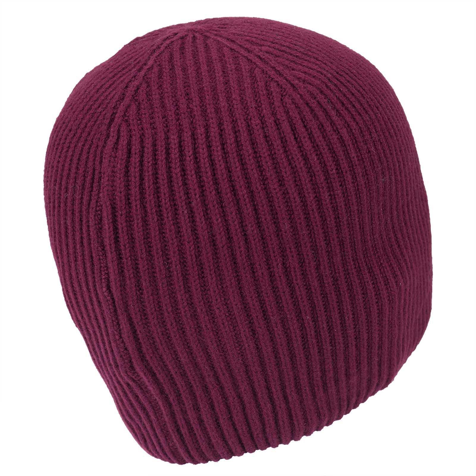 Softe Damen Cashmere-Blend Strickmütze mit Strassbesatz