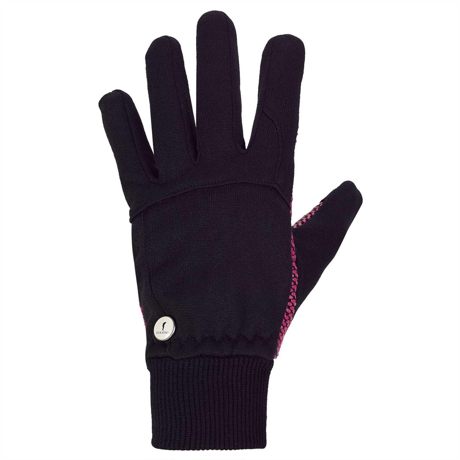 Damen Winterhandschuhe mit gerippten Bündchen und Ballmarker
