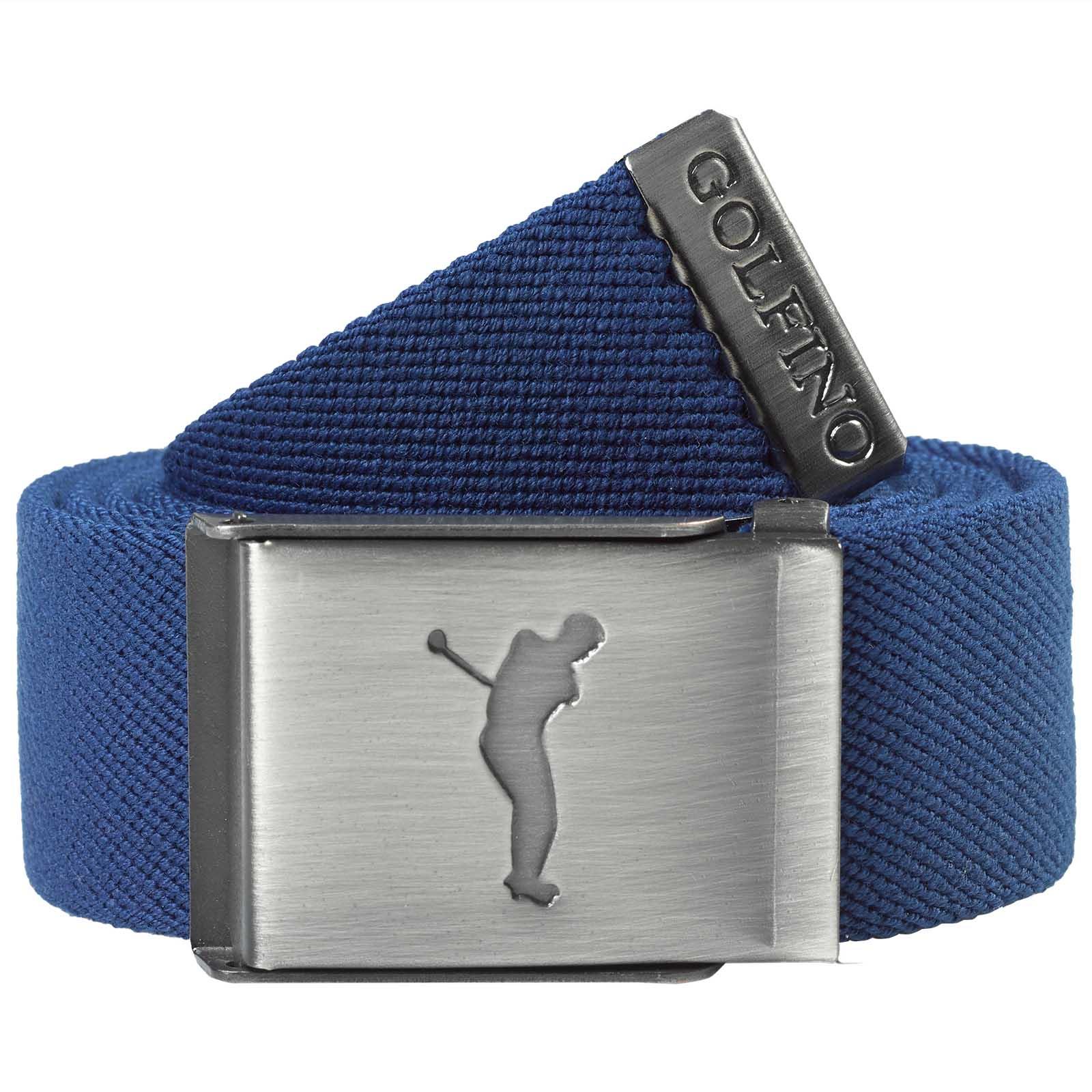 Herren Golf-Webgürtel mit Stretchanteil und Golf Schnalle