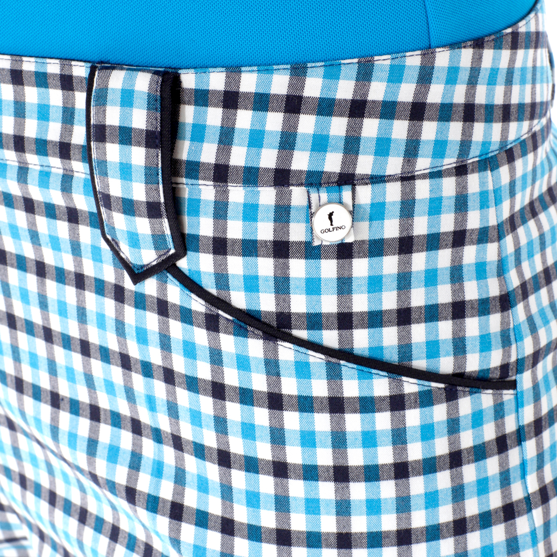 Damen Karo-Golfhose aus Stretchmaterial