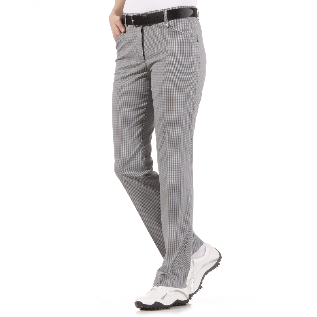 Stretchhose mit Vichy-Muster