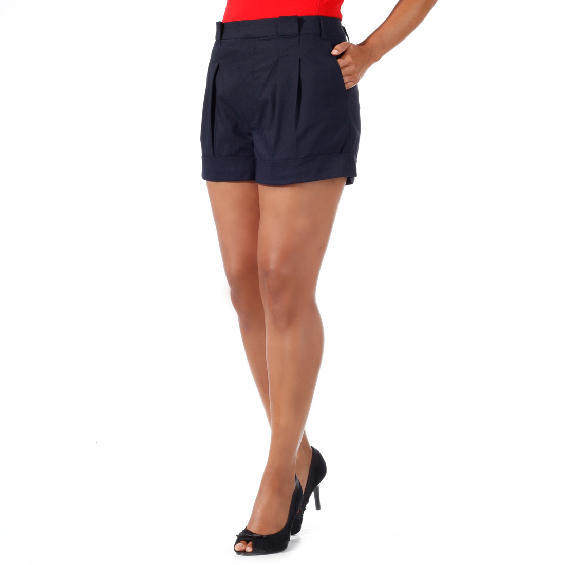 Damen-Shorts aus elastischer Technostretch-Faser