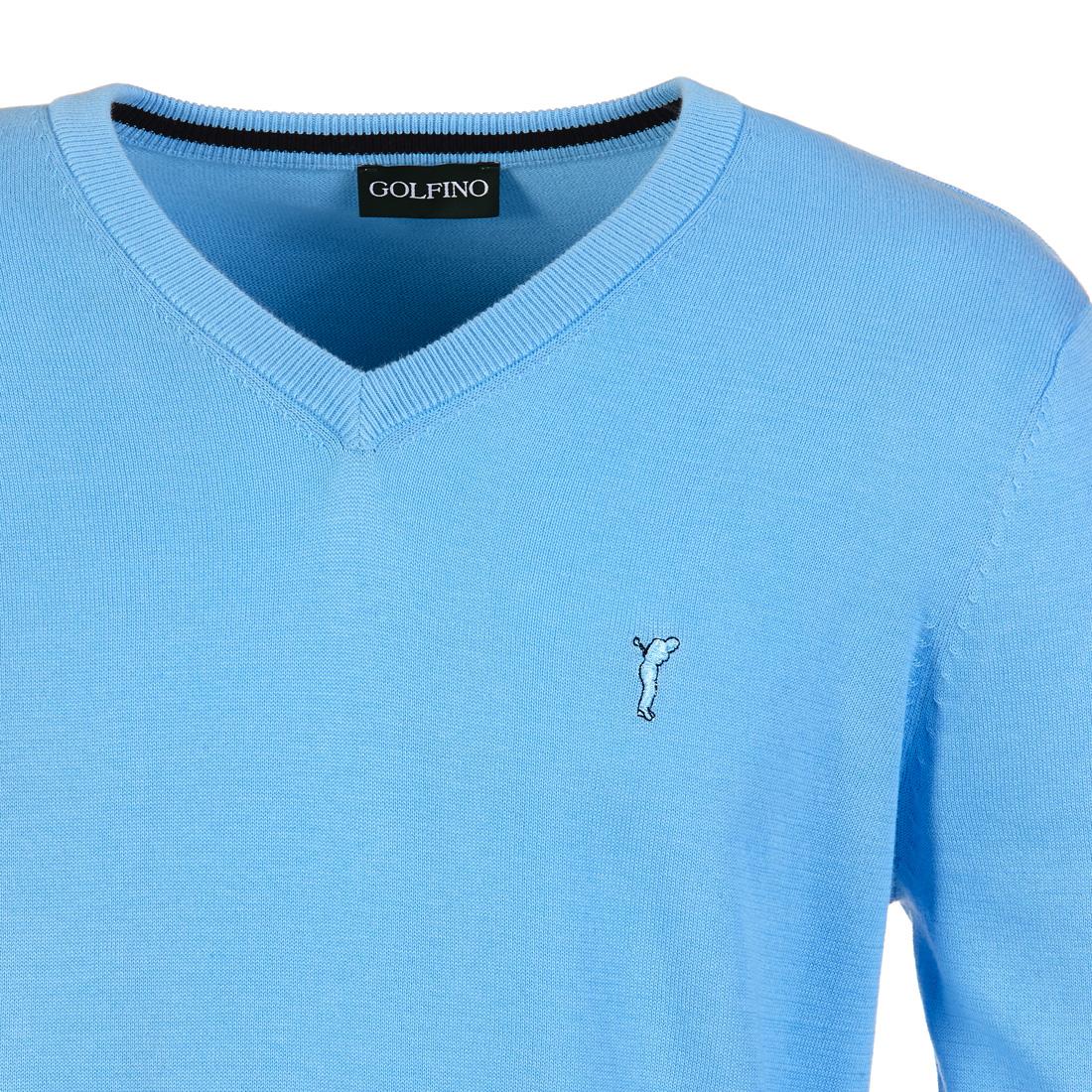 Extra weicher V-Ausschnitt Pullover aus Pima Baumwolle