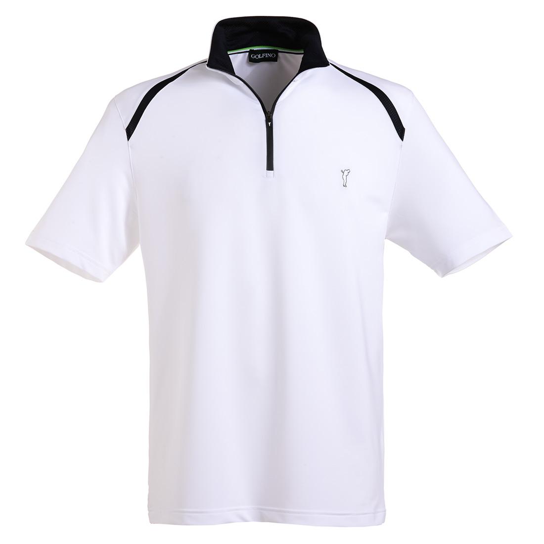 Jersey Kurzarm Shirt mit Reißverschluss