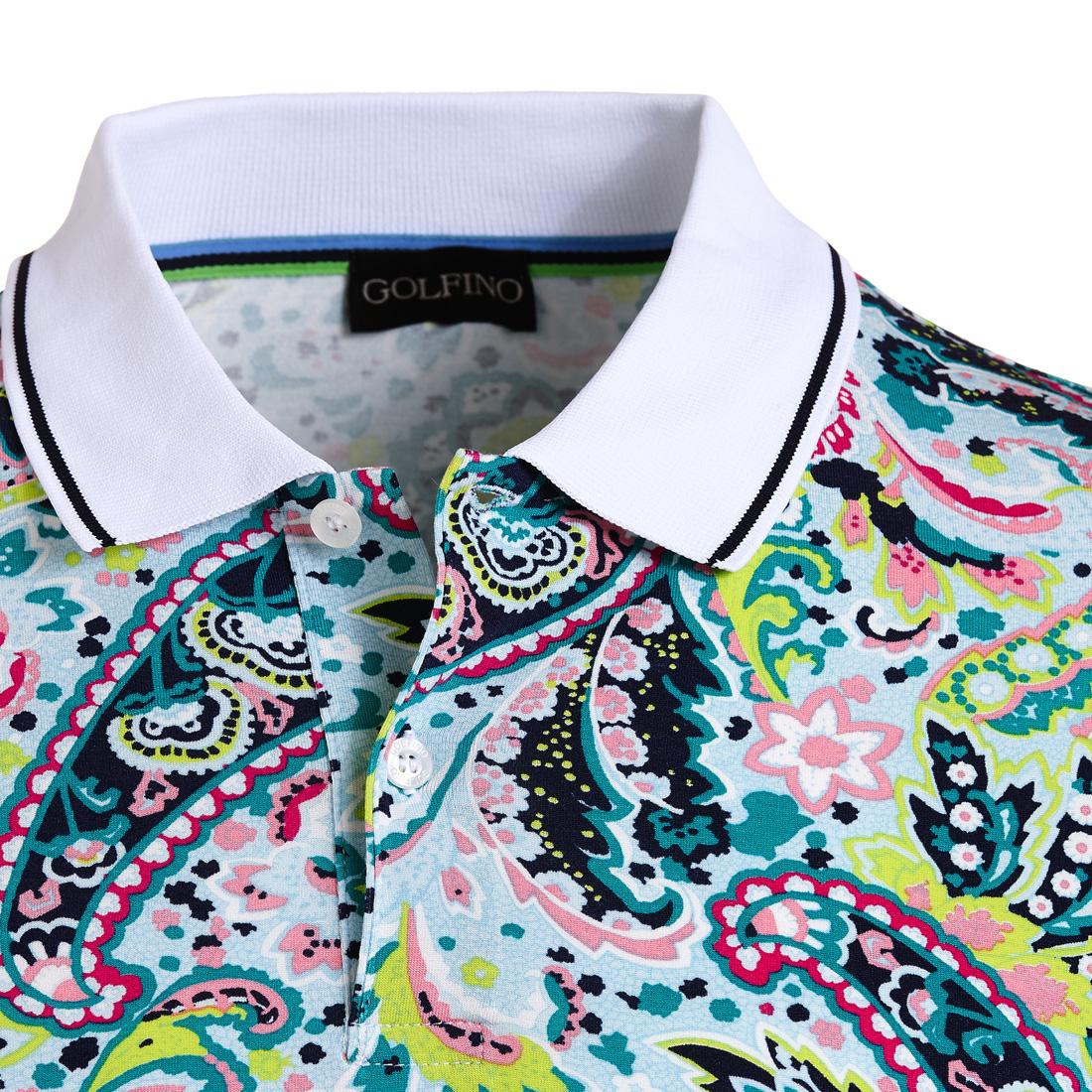 Bedrucktes Stretch Poloshirt