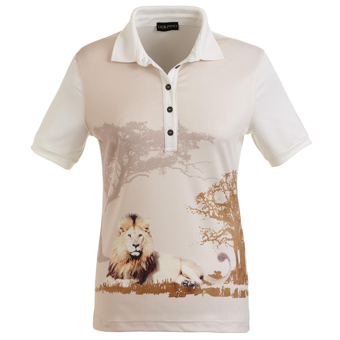 Poloshirt mit Löwenprint