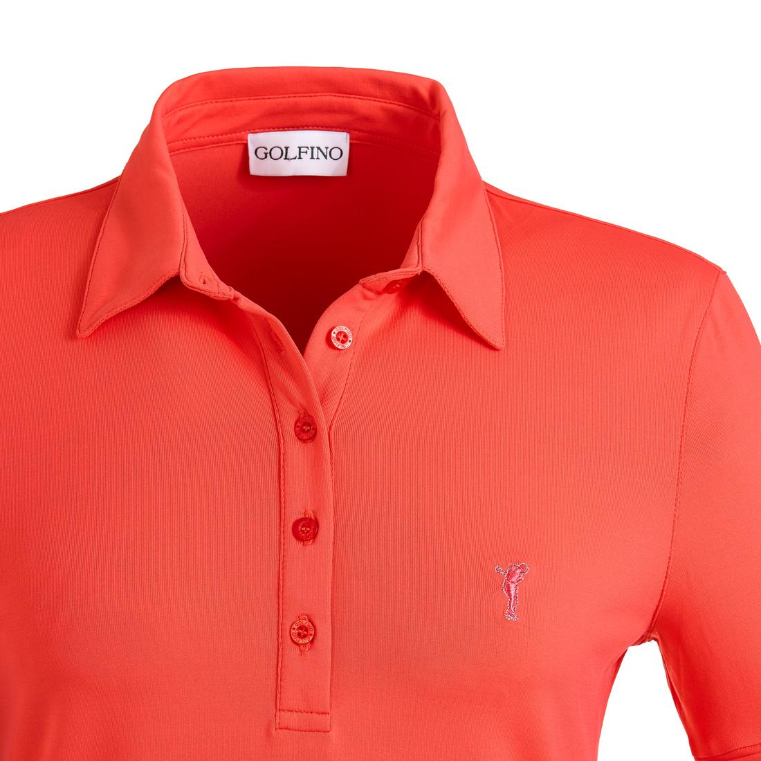 Dry Comfort Poloshirt mit Ärmelfalte