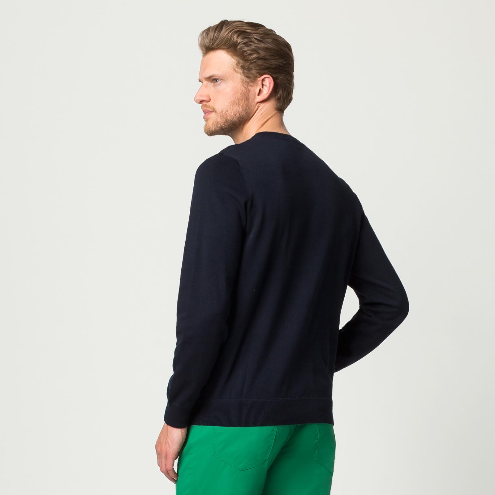 Herren Strickpullover aus weicher Baumwolle mit melierter Optik in Regular Fit