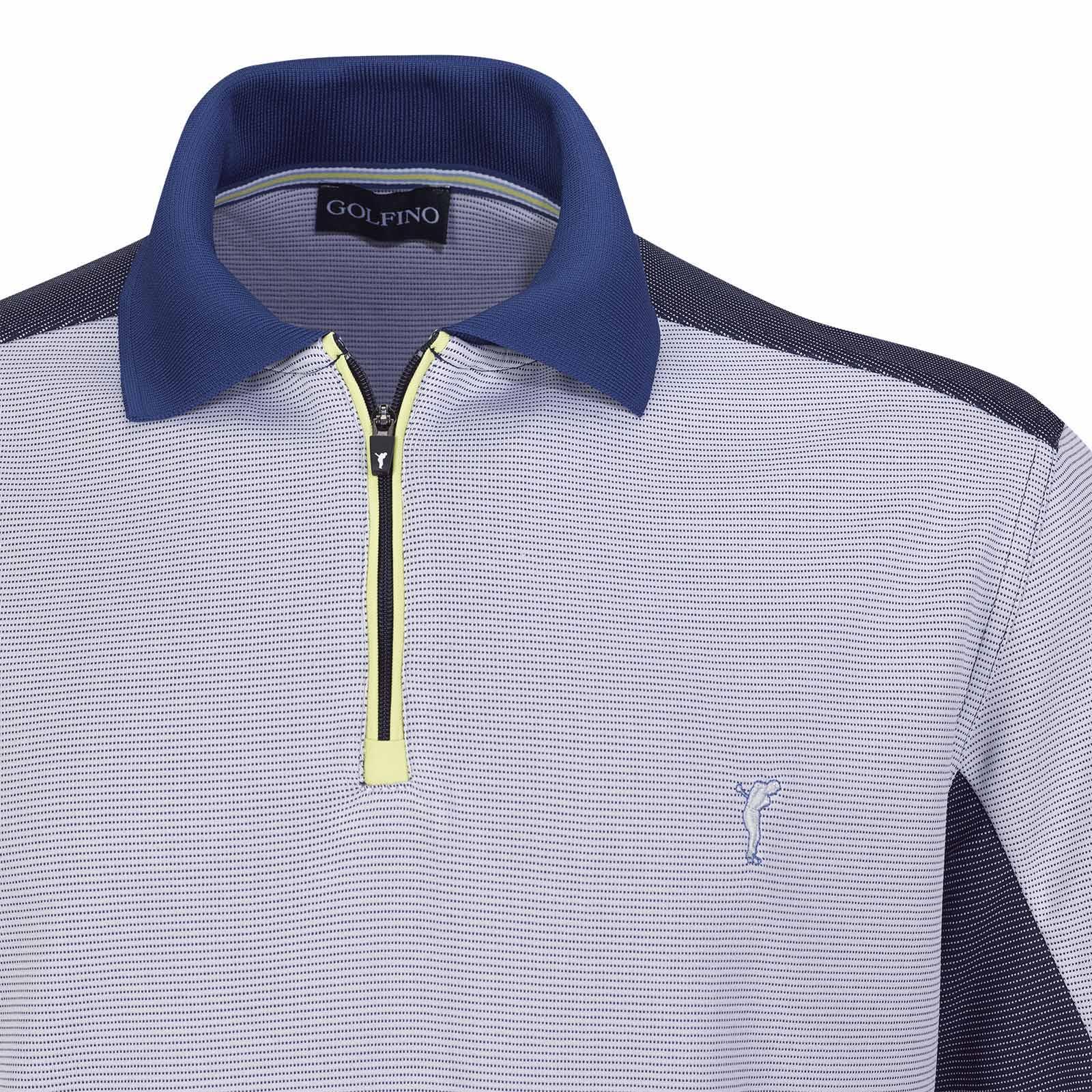 Herren Kurzarm Funktions-Golfpolo schnelltrocknend mit Muster