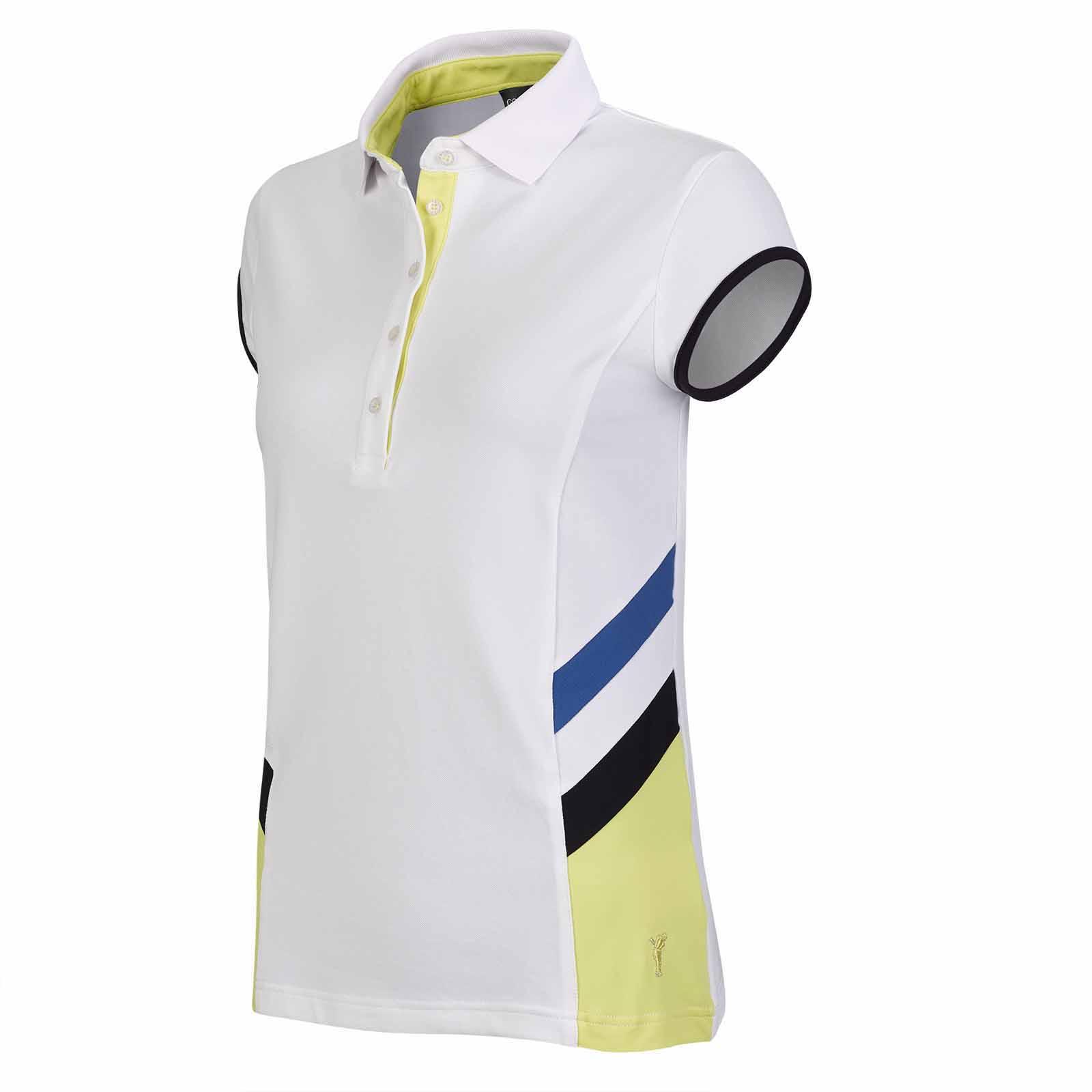 Damen Golf Poloshirt mit Sonnenschutz, Stretch-Funktion und Flügelärmeln
