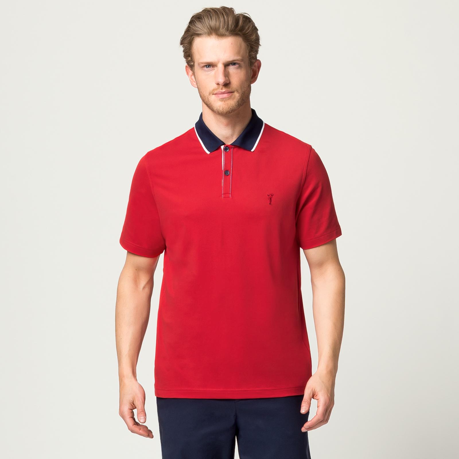 Herren Golfpolo mit Sonnenschutz in Regular Fit