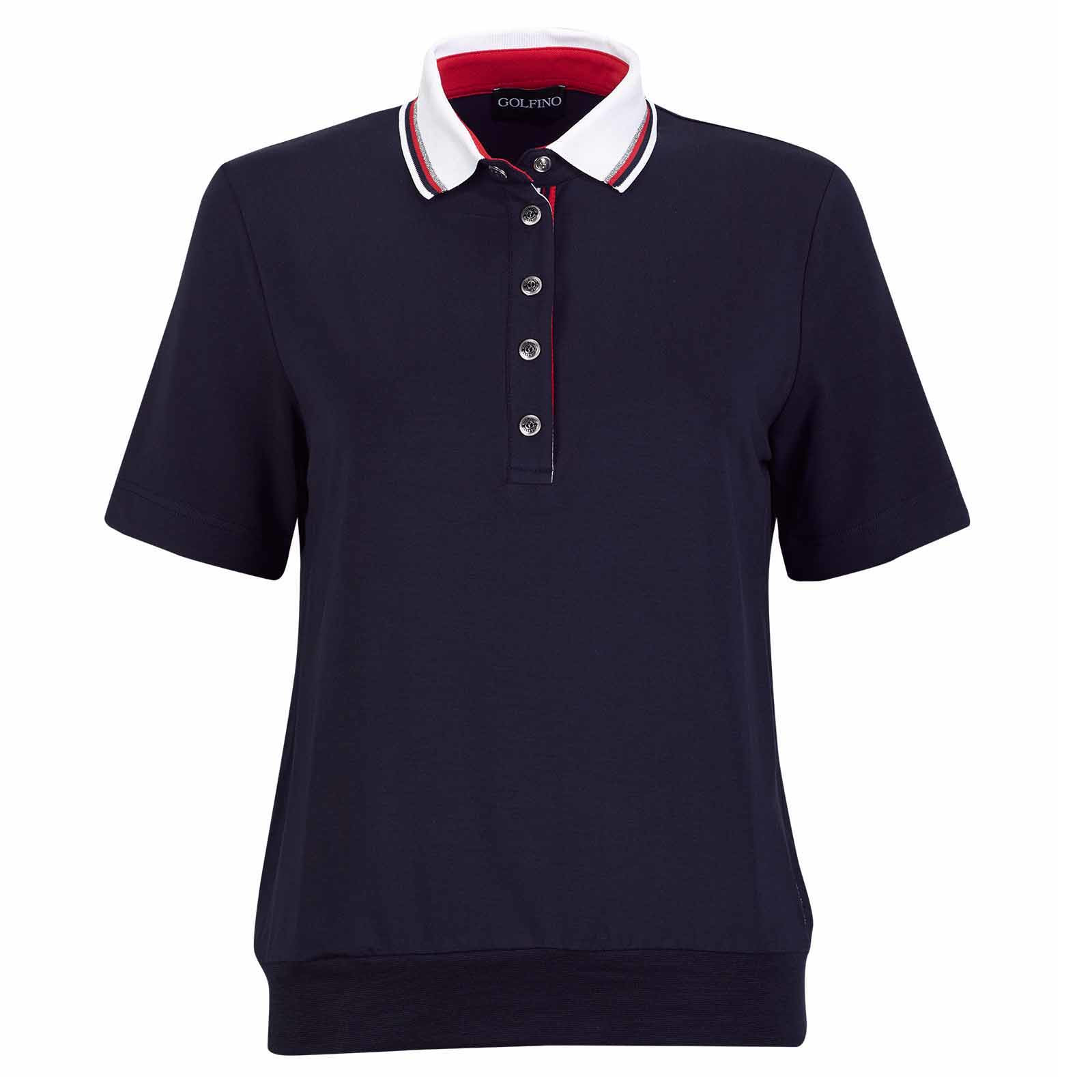 Damen Kurzarm Golfpolo mit Extra Stretch Komfort in Loose Fit