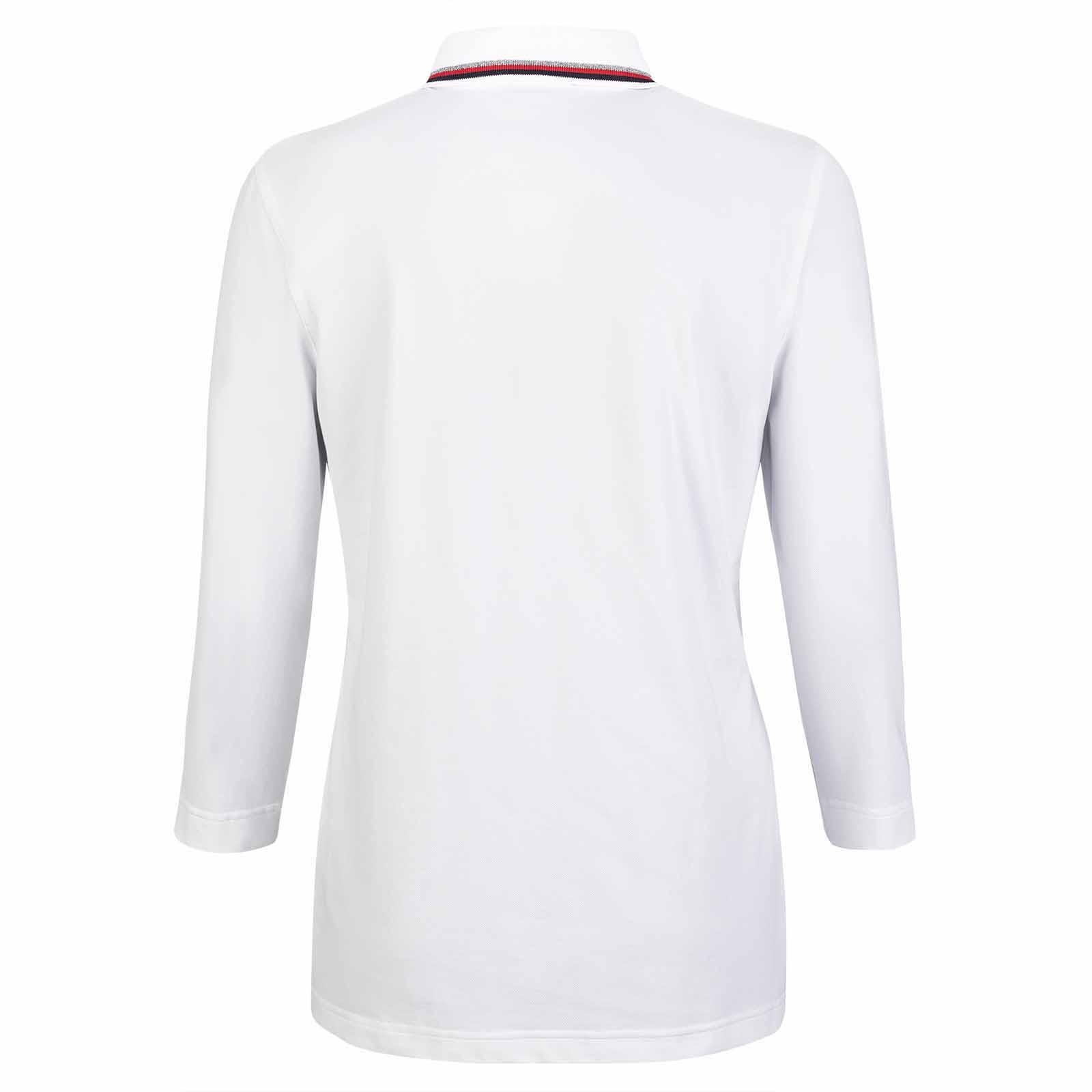 Damen Polo Shirt mit Sonnenschutz und 3/4-Ärmel in Loose Fit
