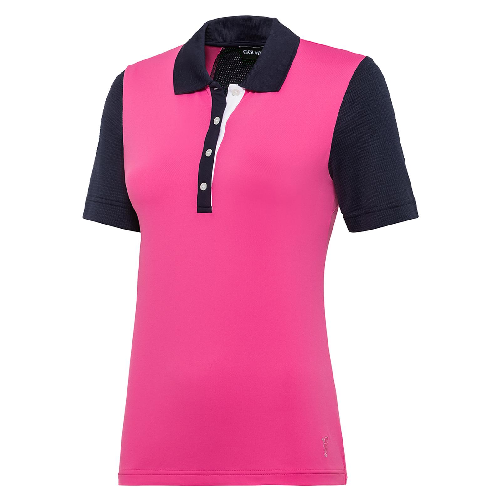 Damen Polo mit Sonnenschutz-Funktion und Mesh-Einsätzen in Slim Fit