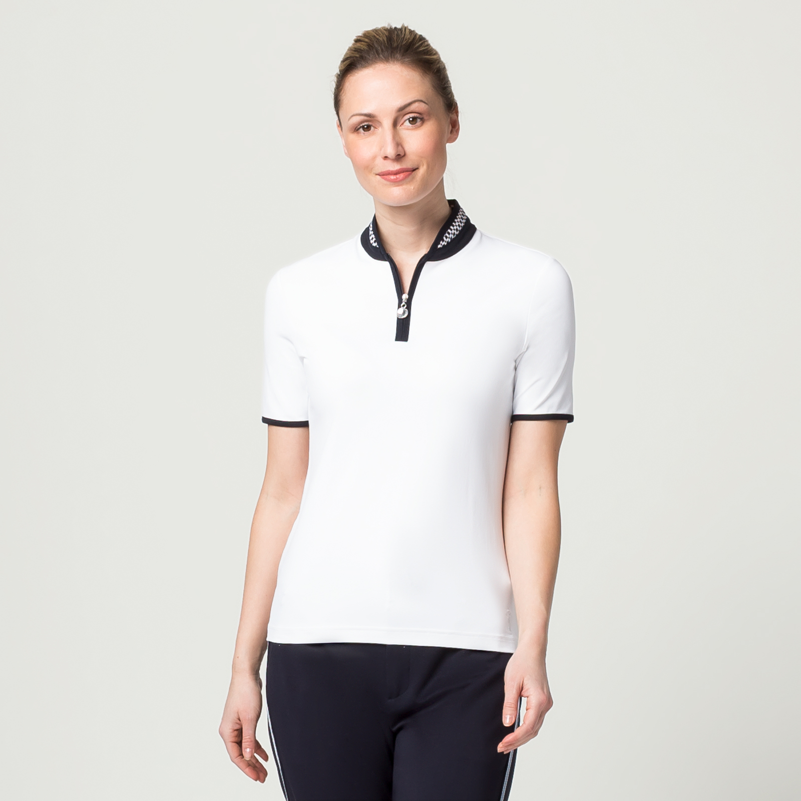 Damen Golfpolo feuchtigkeitsregulierend in Slim Fit mit Kurzarm