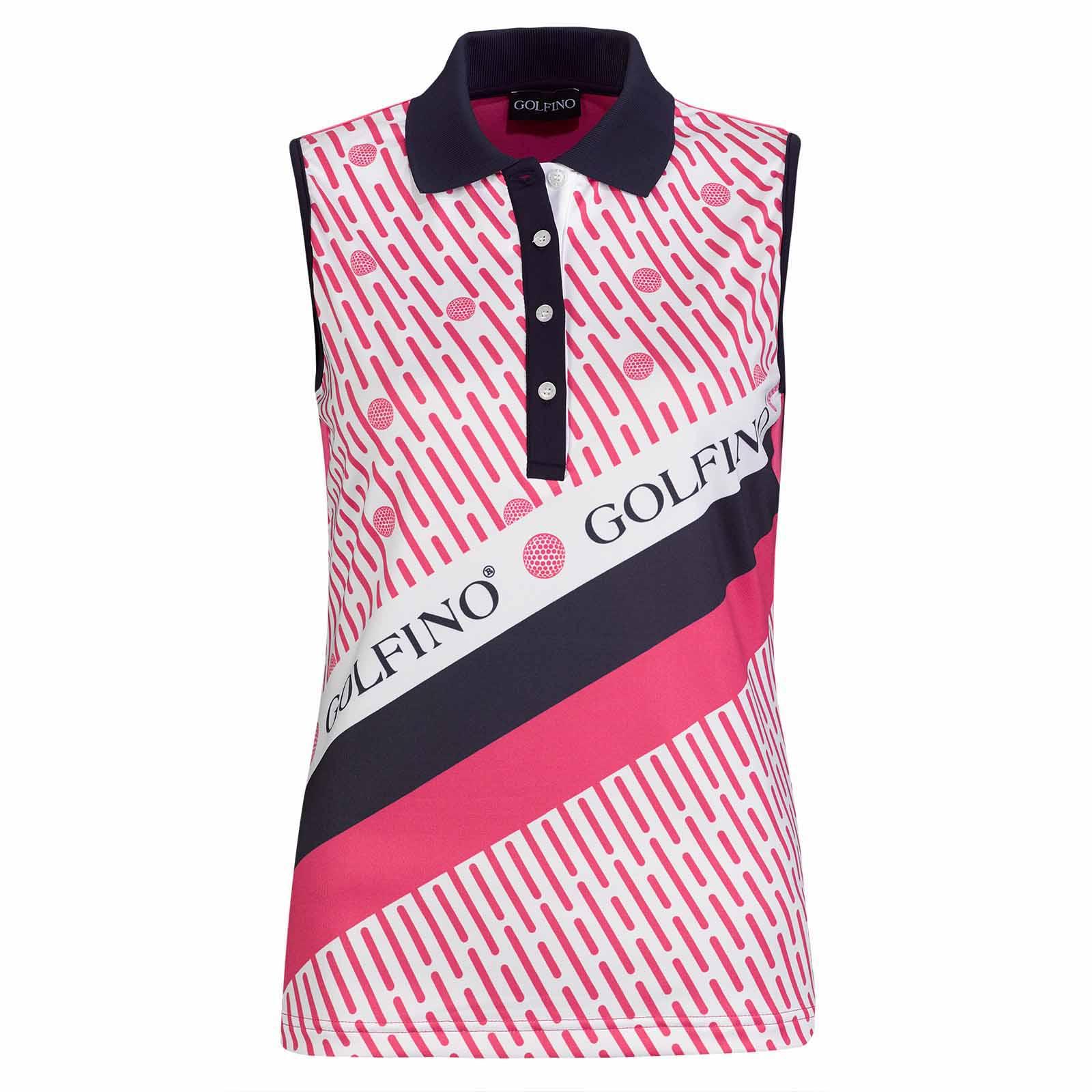 Ärmelloses Damen Golf Poloshirt mit Sonnenschutz in Slim Fit