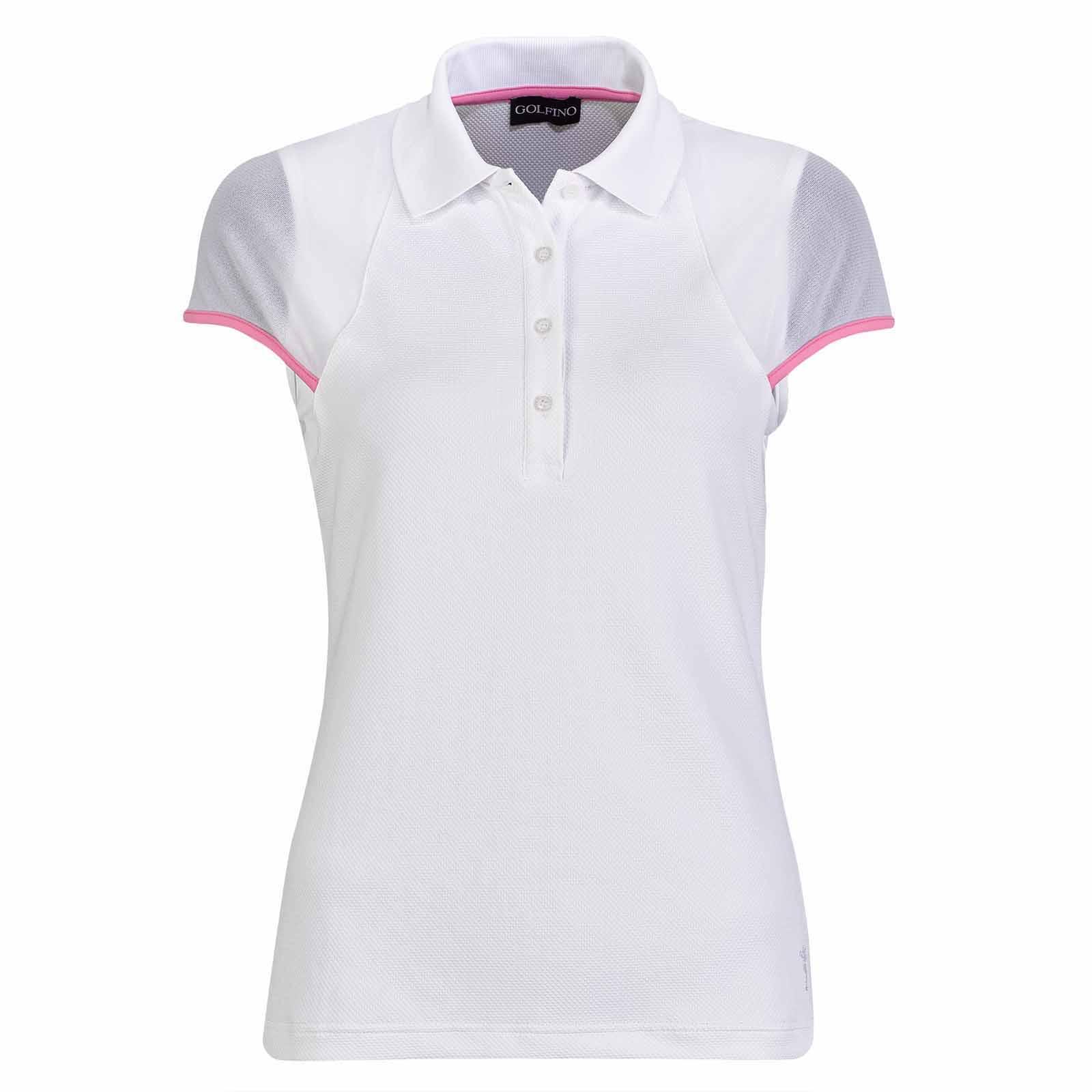 Damen Golf Poloshirt feuchtigkeitsregulierend aus Bubble Jacquard in Slim Fit