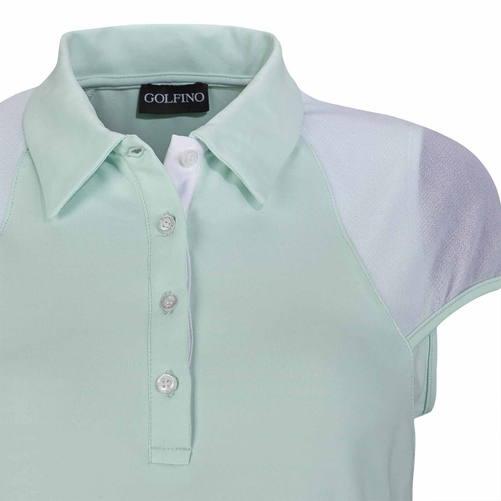 Damen Golf Poloshirt Extra Stretch Komfort mit Mesheinsätzen in Slim Fit