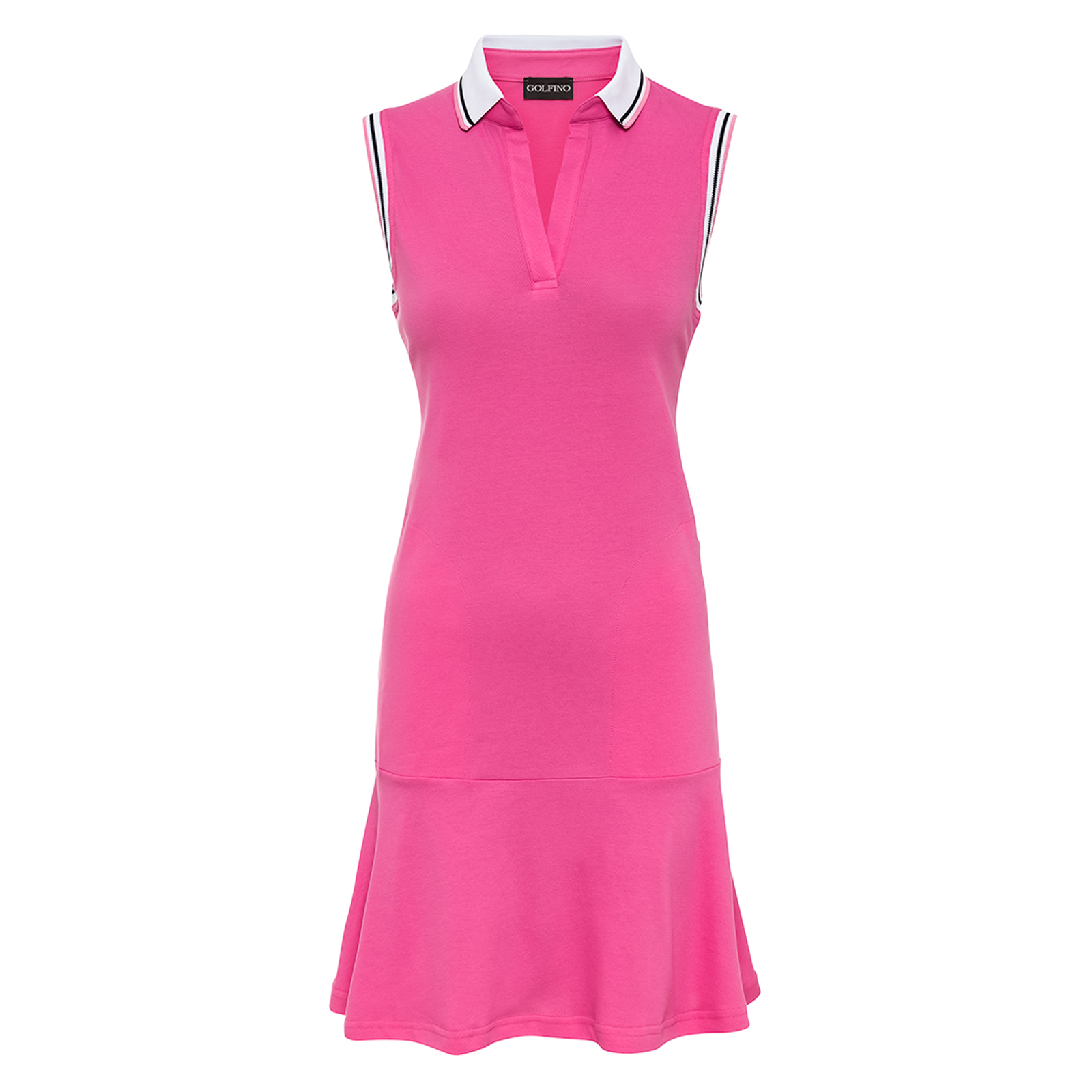 Ärmelloses Damen Golfkleid Extra Stretch Komfort in Slim Fit aus Baumwoll-Mix