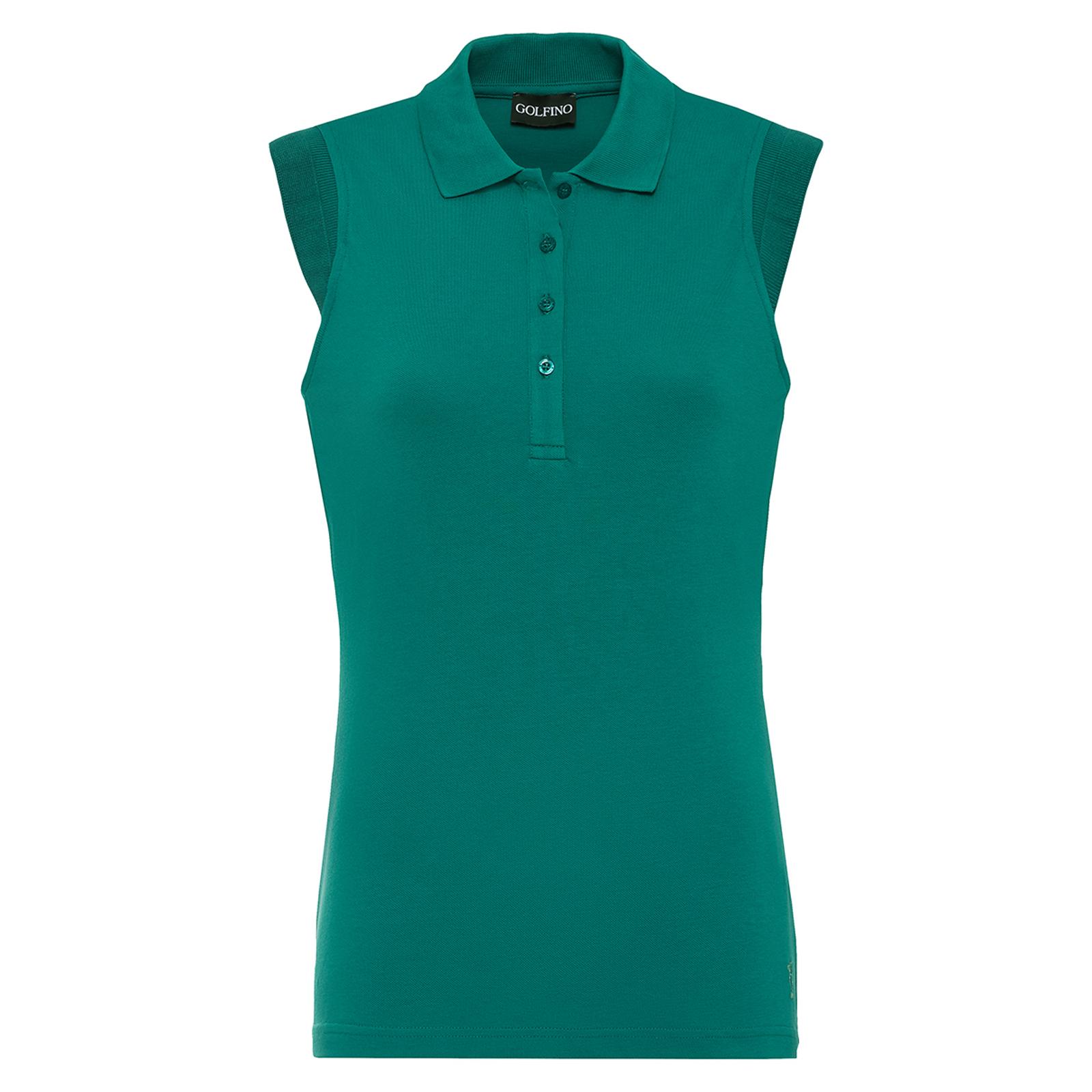Ärmelloses Damen Golfpolo mit Sonnenschutz und Extra Stretch Komfort Slim Fit