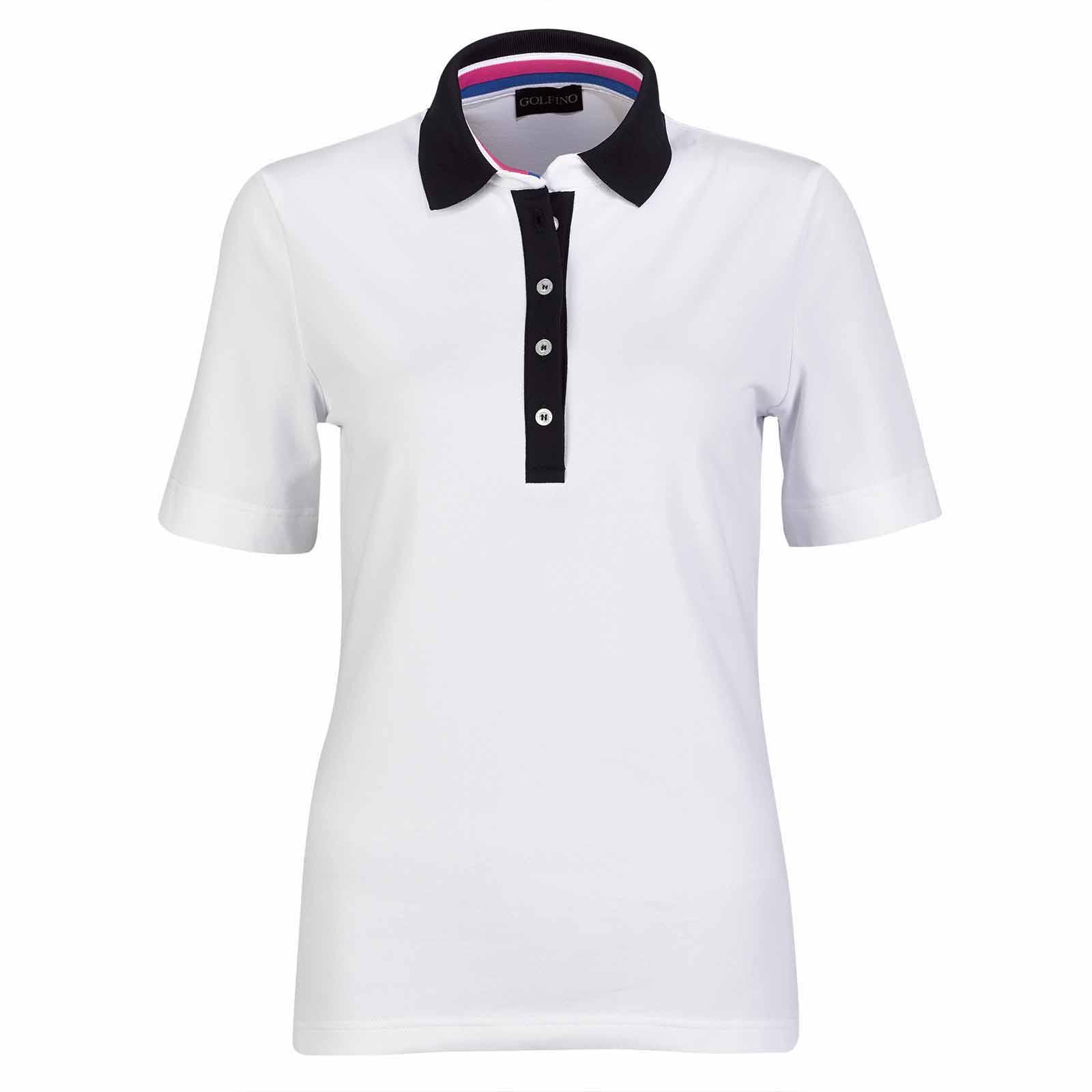 Damen Golfshirt mit Sonnenschutz und Extra Stretch Komfort in Slim Fit