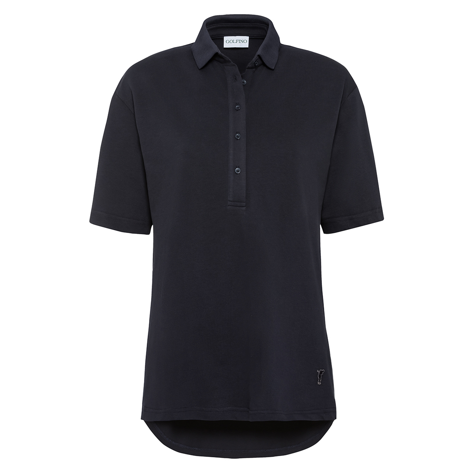 Damen Kurzarm Polo Shirt Extra Stretch Komfort aus Baumwoll-Mix