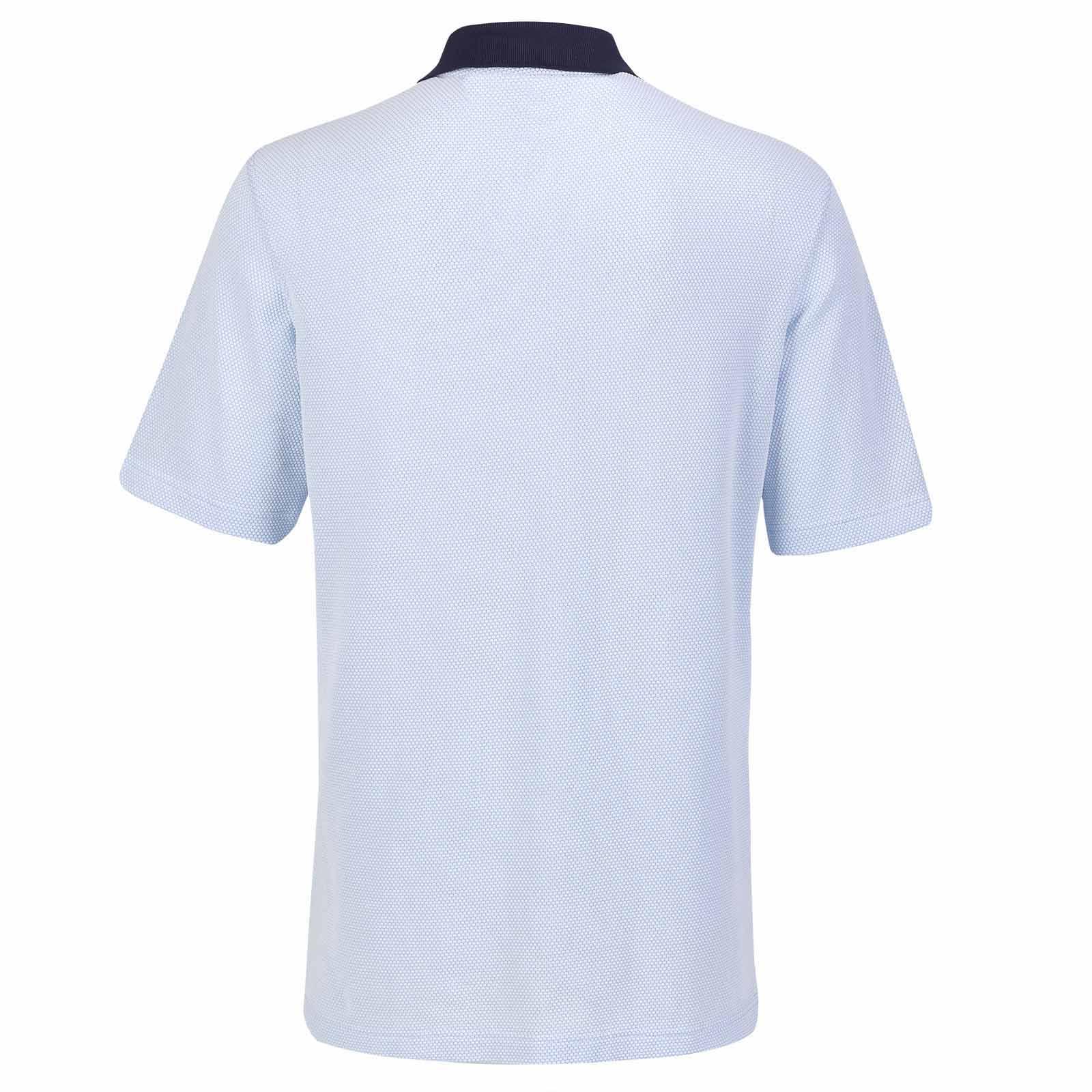 Herren Golf Poloshirt feuchtigkeitsregulierend aus Bubble Jaquard