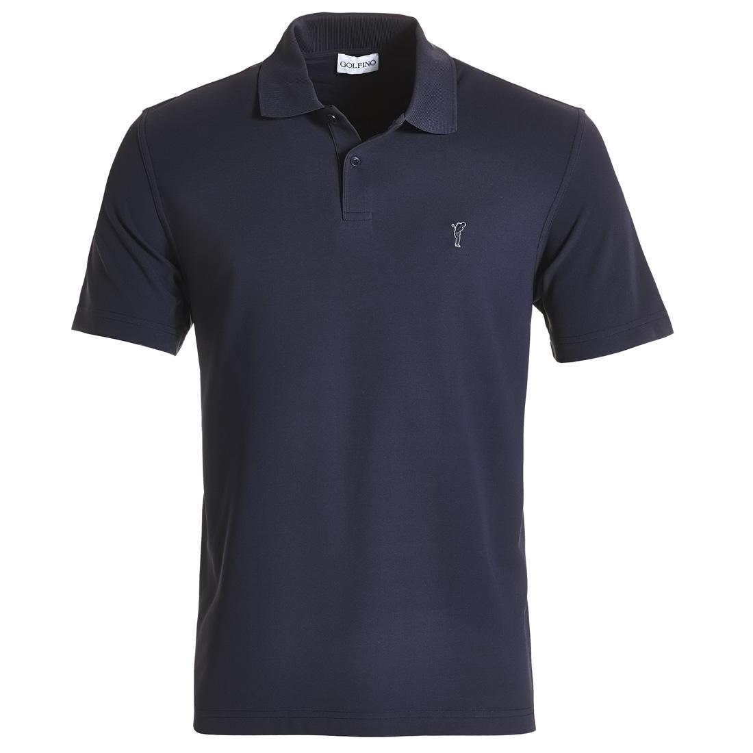 Men's polo shirt made from moisture-regulating material