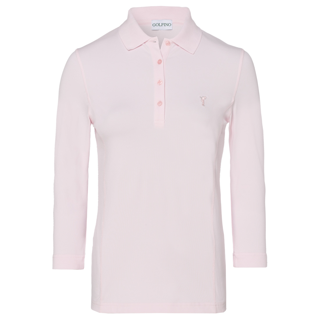 Damen Polo mit 3/4-Arm in Slim Fit