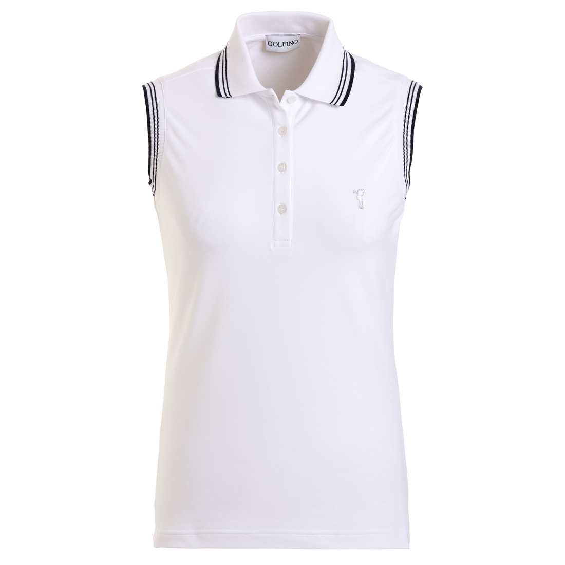 Sleeveless ladies' golf polo shirt in slim fit with sun protection