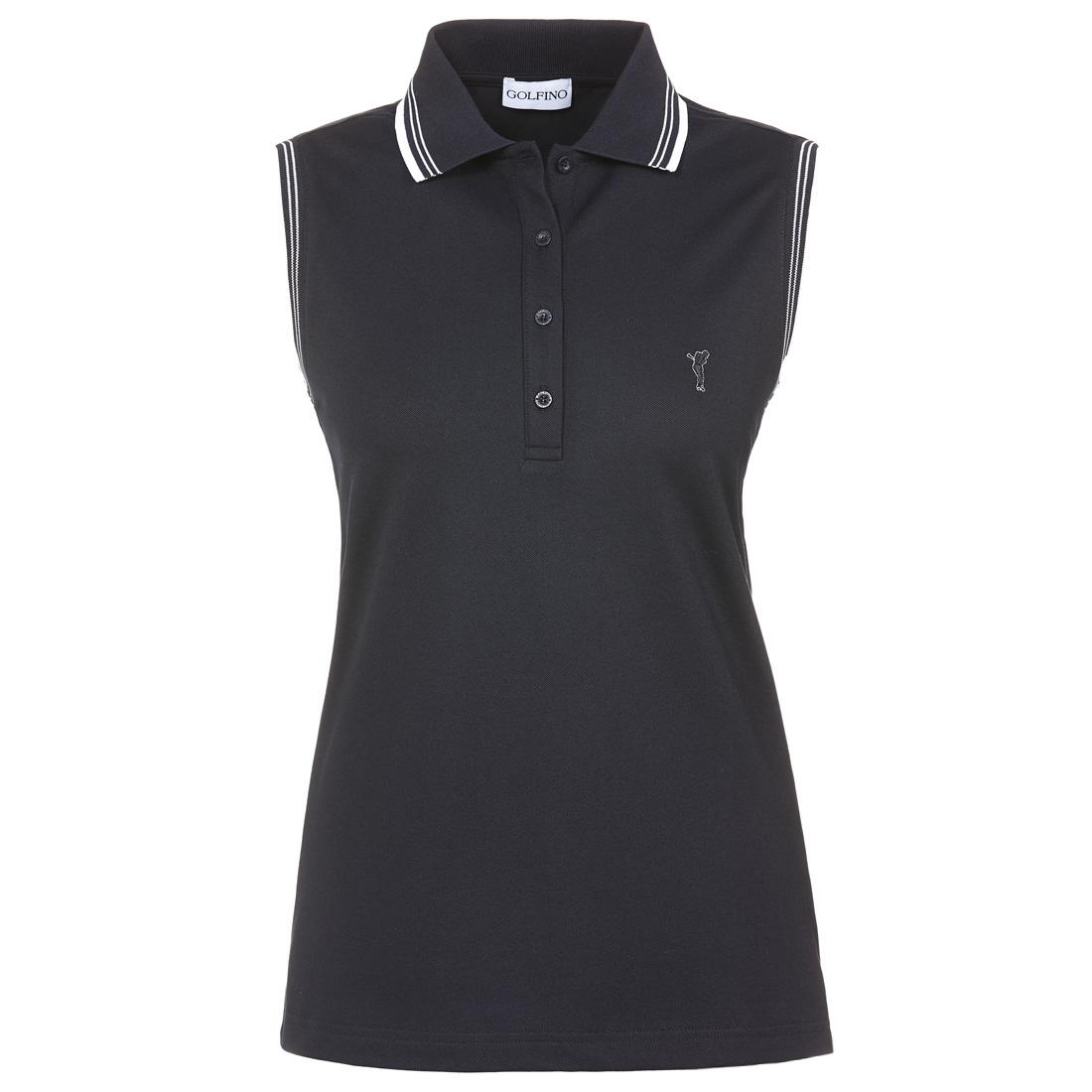 Ärmelloses Damen Golfpolo in Slim Fit mit Sonnenschutz