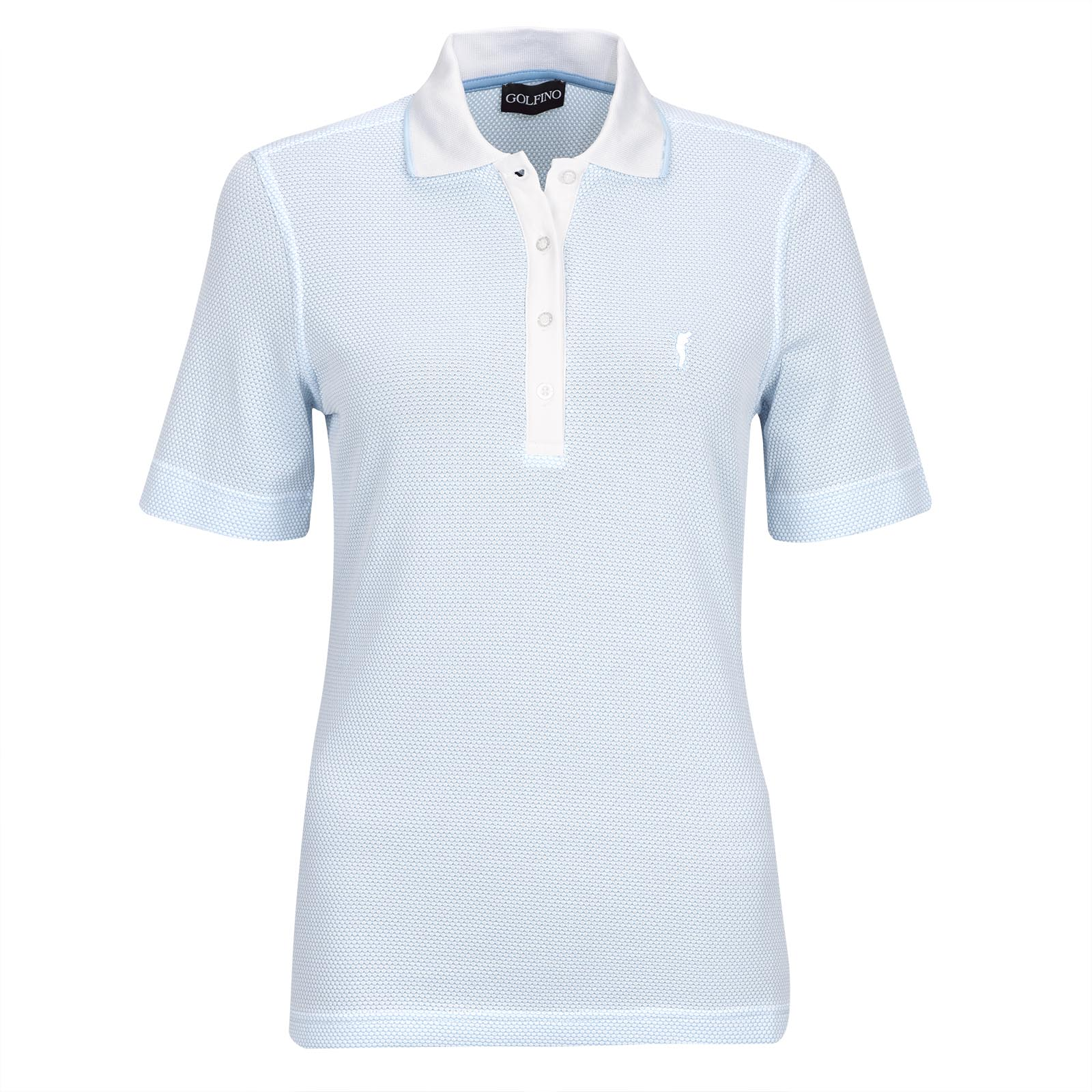 Ladies' polo with all-over pattern