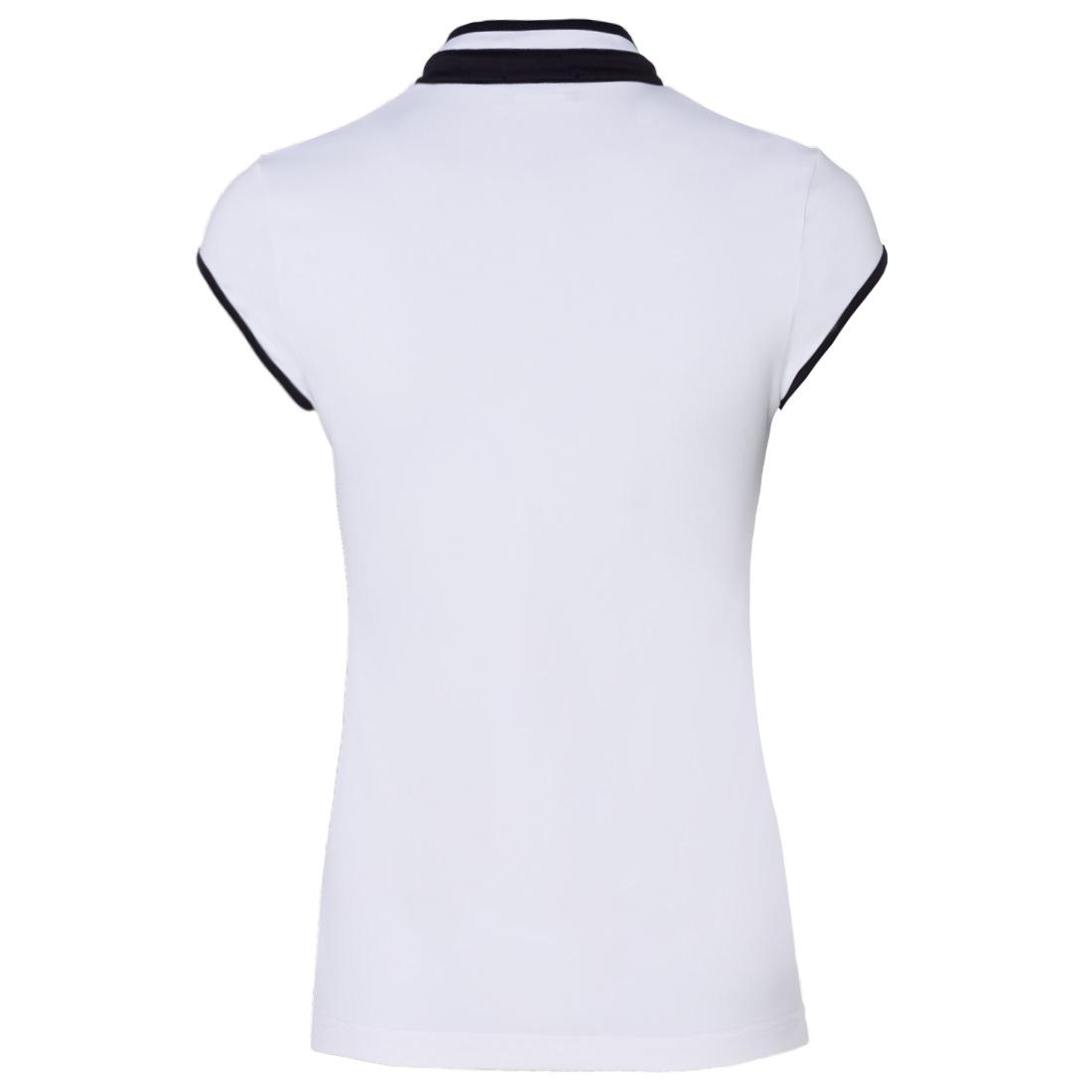 Damen Poloshirt mit Troyer-Kragen und Flügelarm aus Sonnenschutz-Stoff