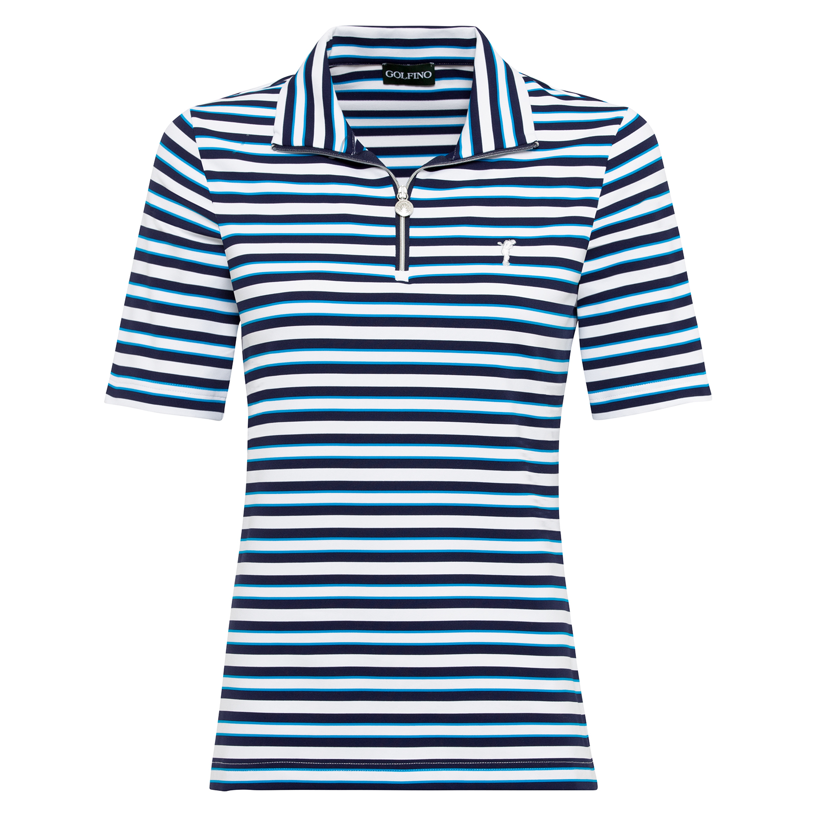 Ladies' short-sleeved polo, moisture-regulating with extra stretch comfort